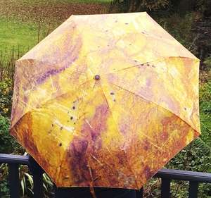Tigers Eye Umbrella Open