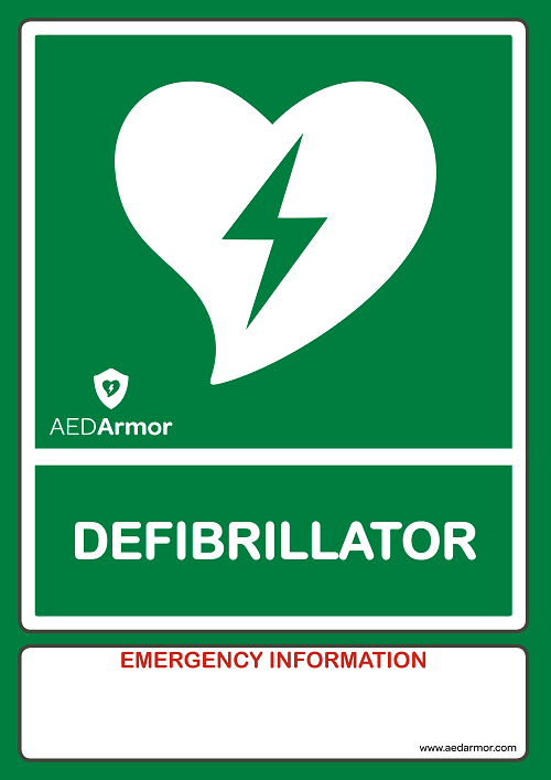 Aed Armor A4 Aed Wall Sign