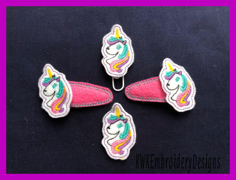 In The Hoop Embroidery Designs Hair Clips