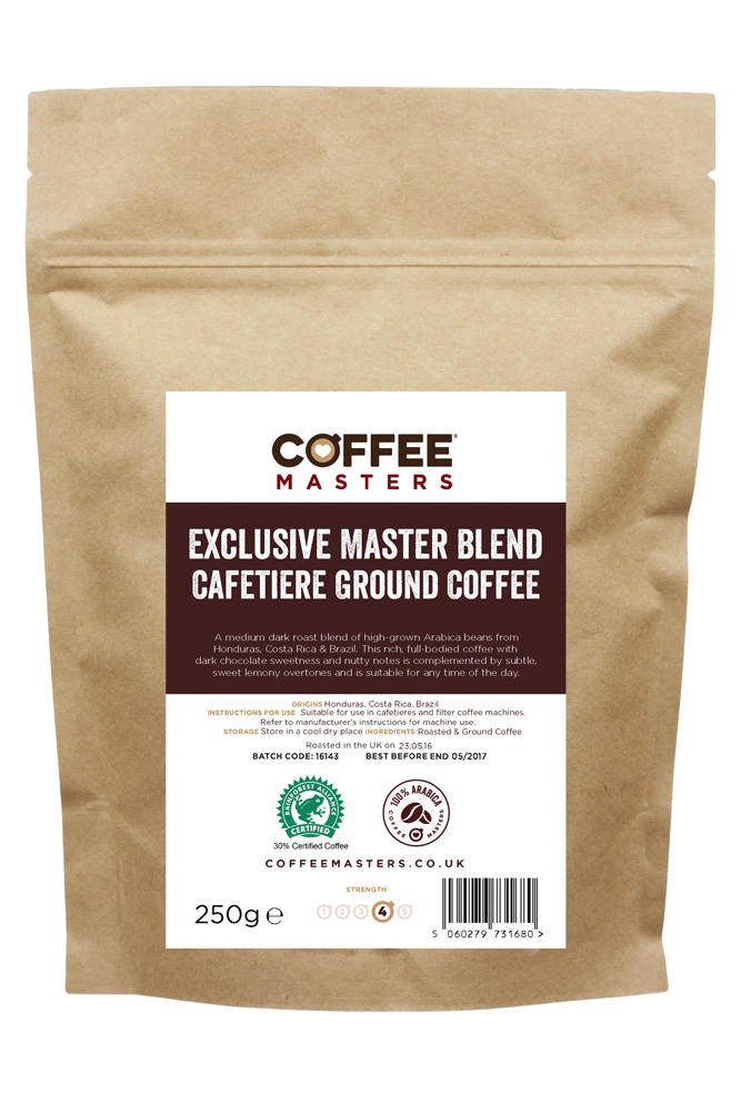 Exclusive Master Blend Ground Cafetiere Coffee 250g