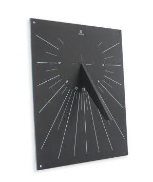 black square slate like sundial wall mounted