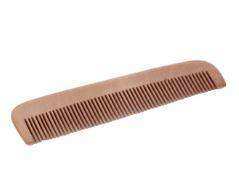 dark natural wood comb pocket size