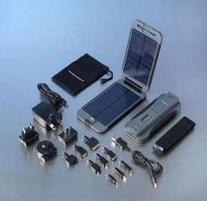 portable solar power charger and accessories