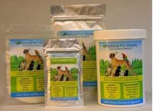 tubs and packets of natural vitality products
