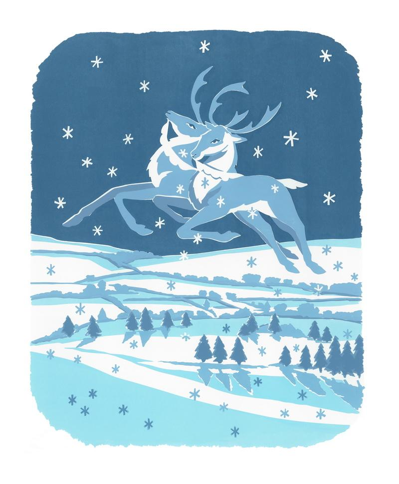 MW Snow on Snow Christmas Cards 7x5\