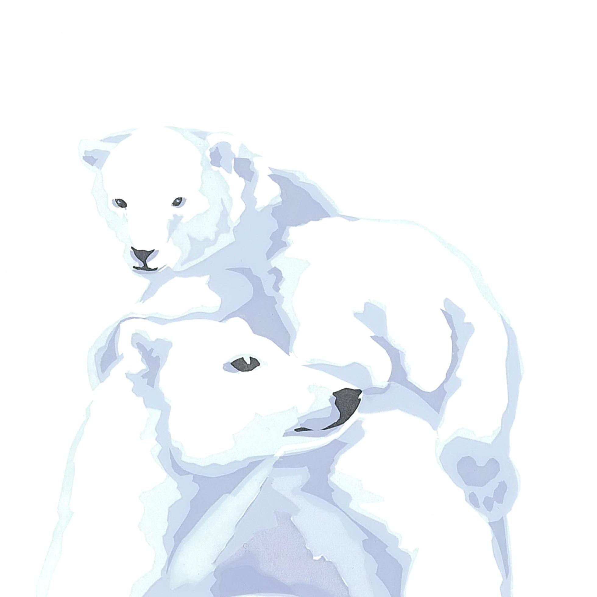 Polar Bears Christmas Cards 125mm squ