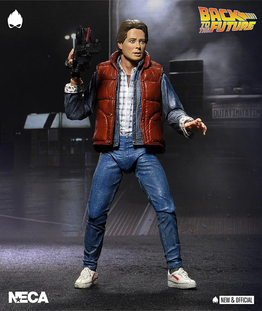 """Back to the Future Ultimate Marty Action Figure 7"""" NECA Michael J Fox PRE-ORDER"""