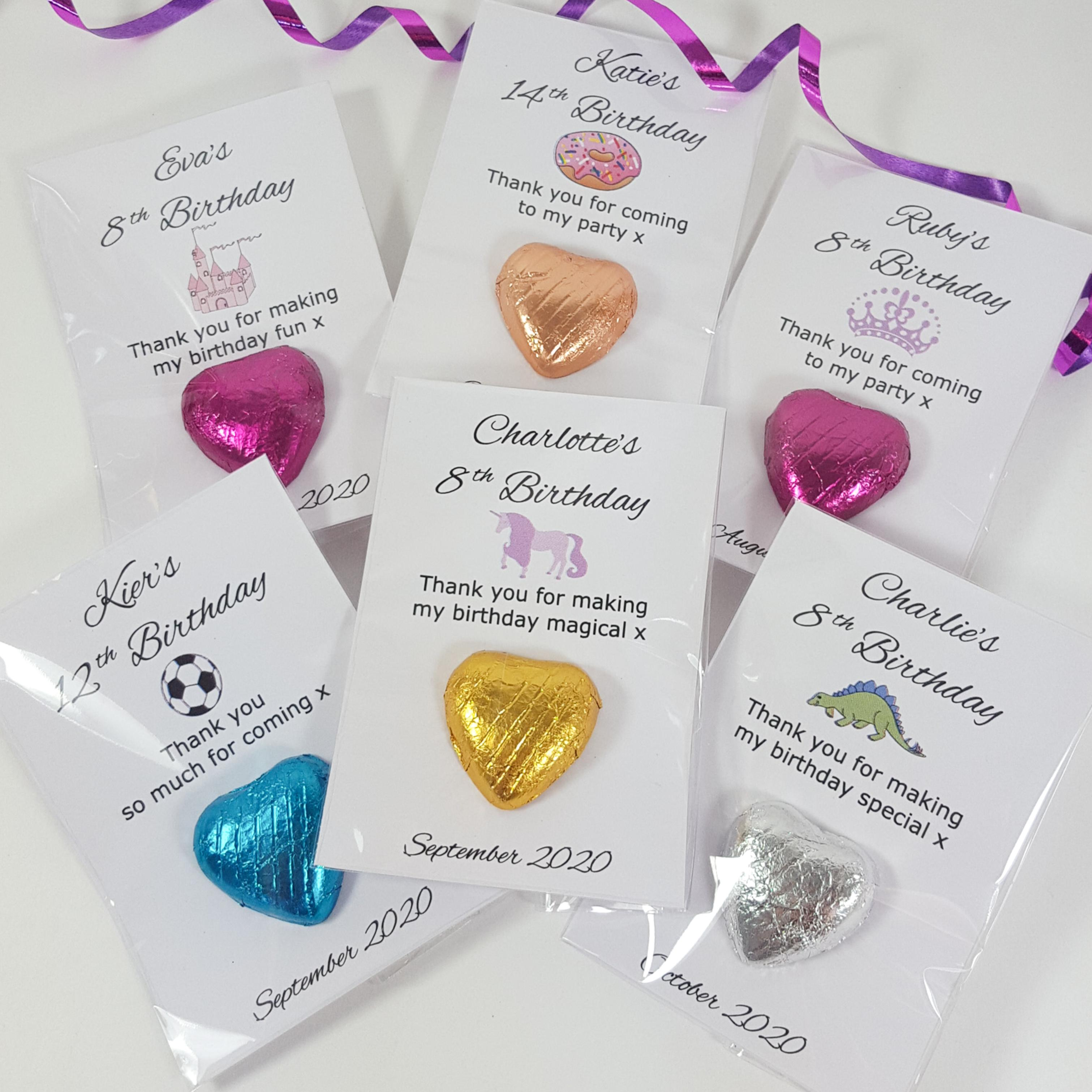 Personalised UNICORN Sparkle Gold Girl/'s Birthday Party Bag Favour Chocolates