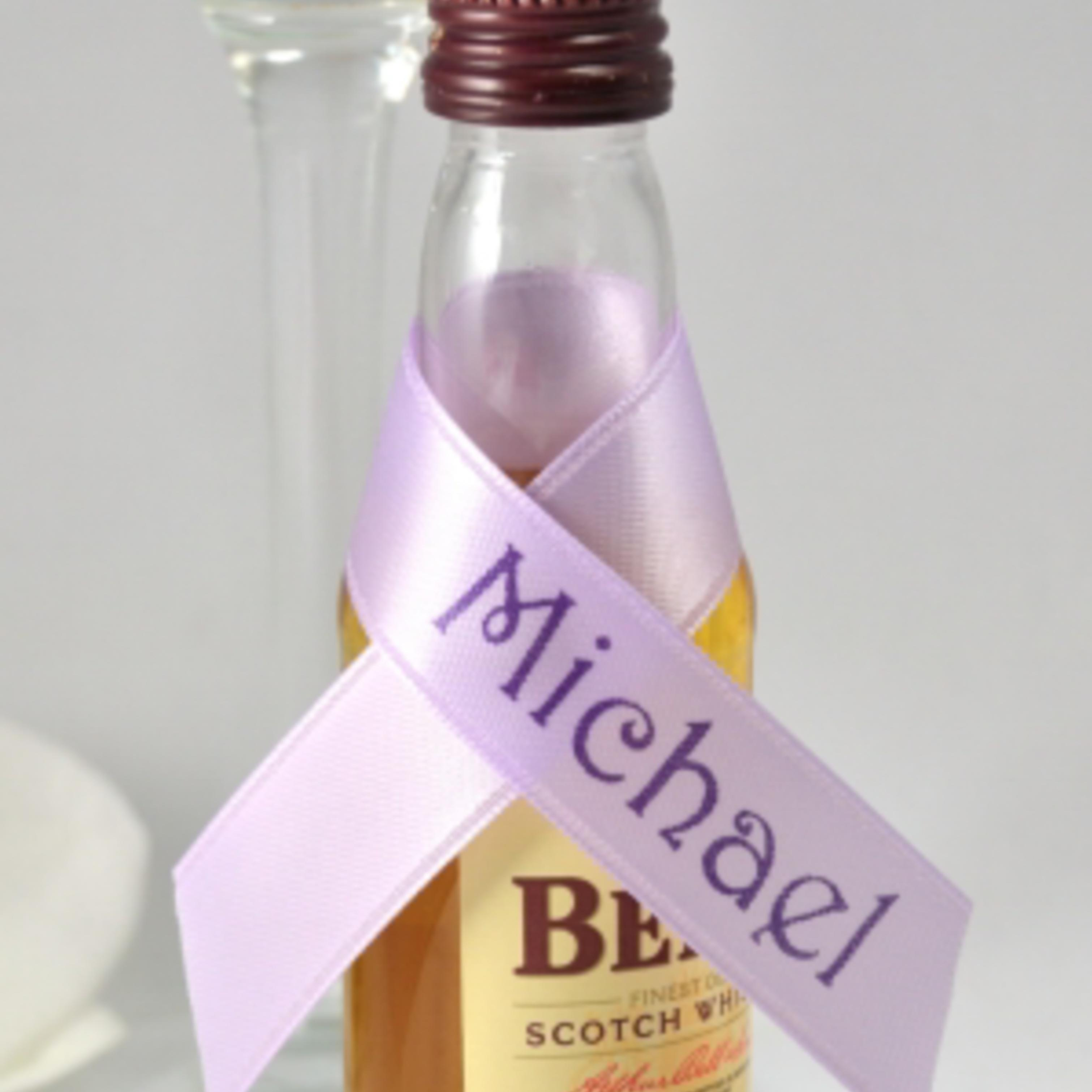 Personalised Ribbons For Your Own Mini Bottles