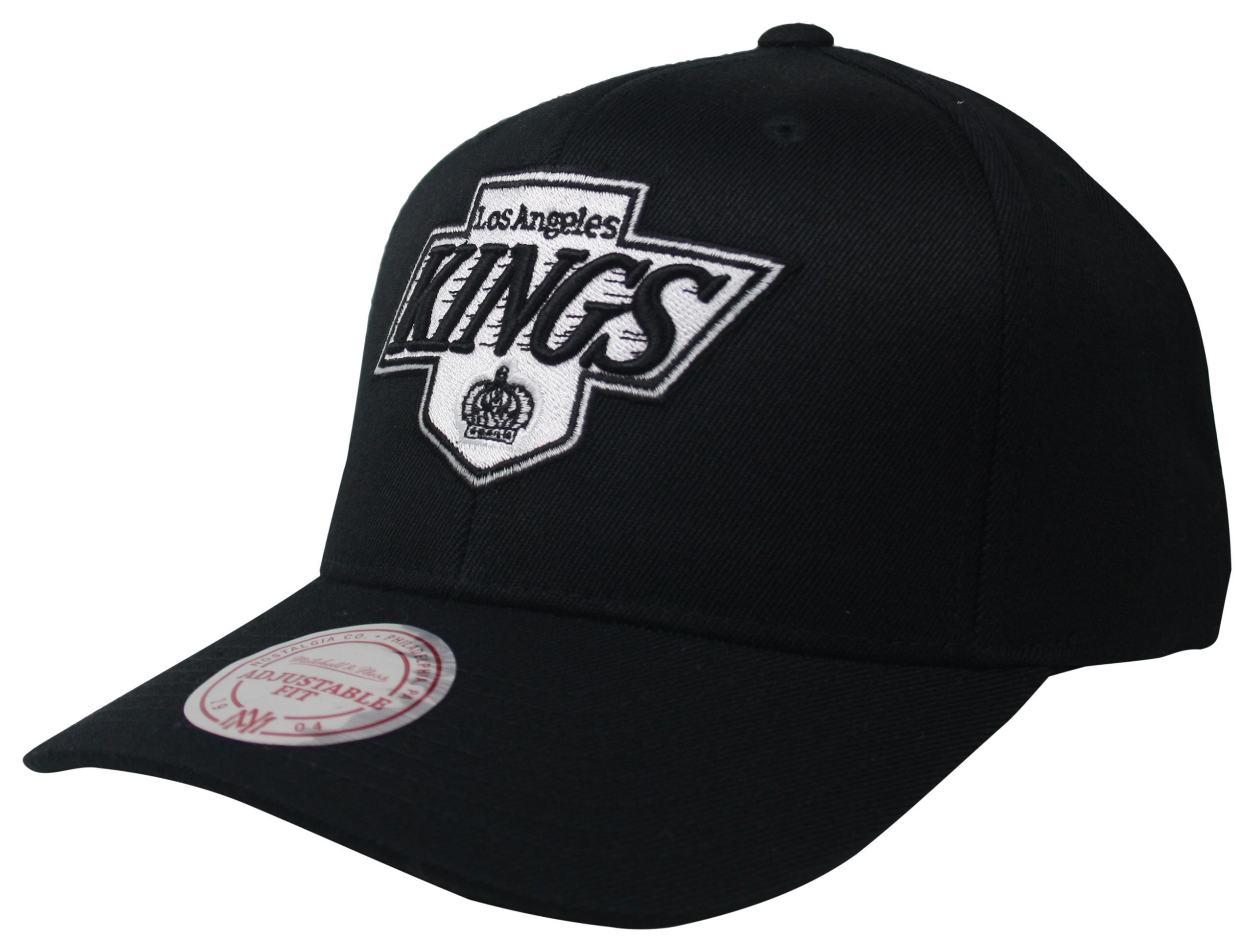 ac3f4ed1f Mitchell & Ness | LA Kings Black Black & White Logo 110 Snapback
