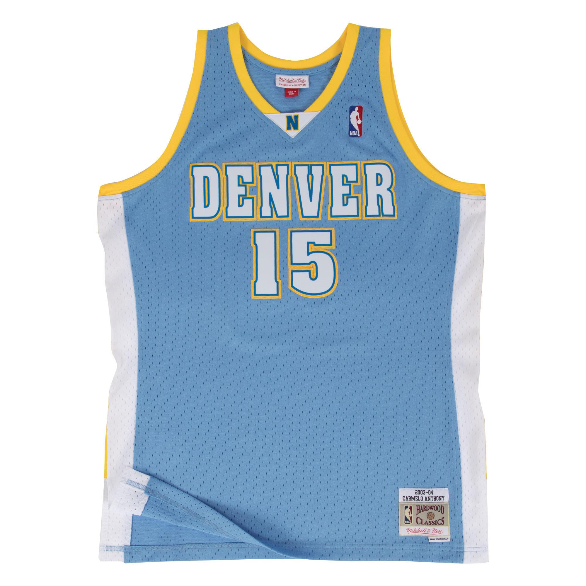 Denver Nuggets Jersey: Denver Nuggets Blue Carmelo Anthony 2003