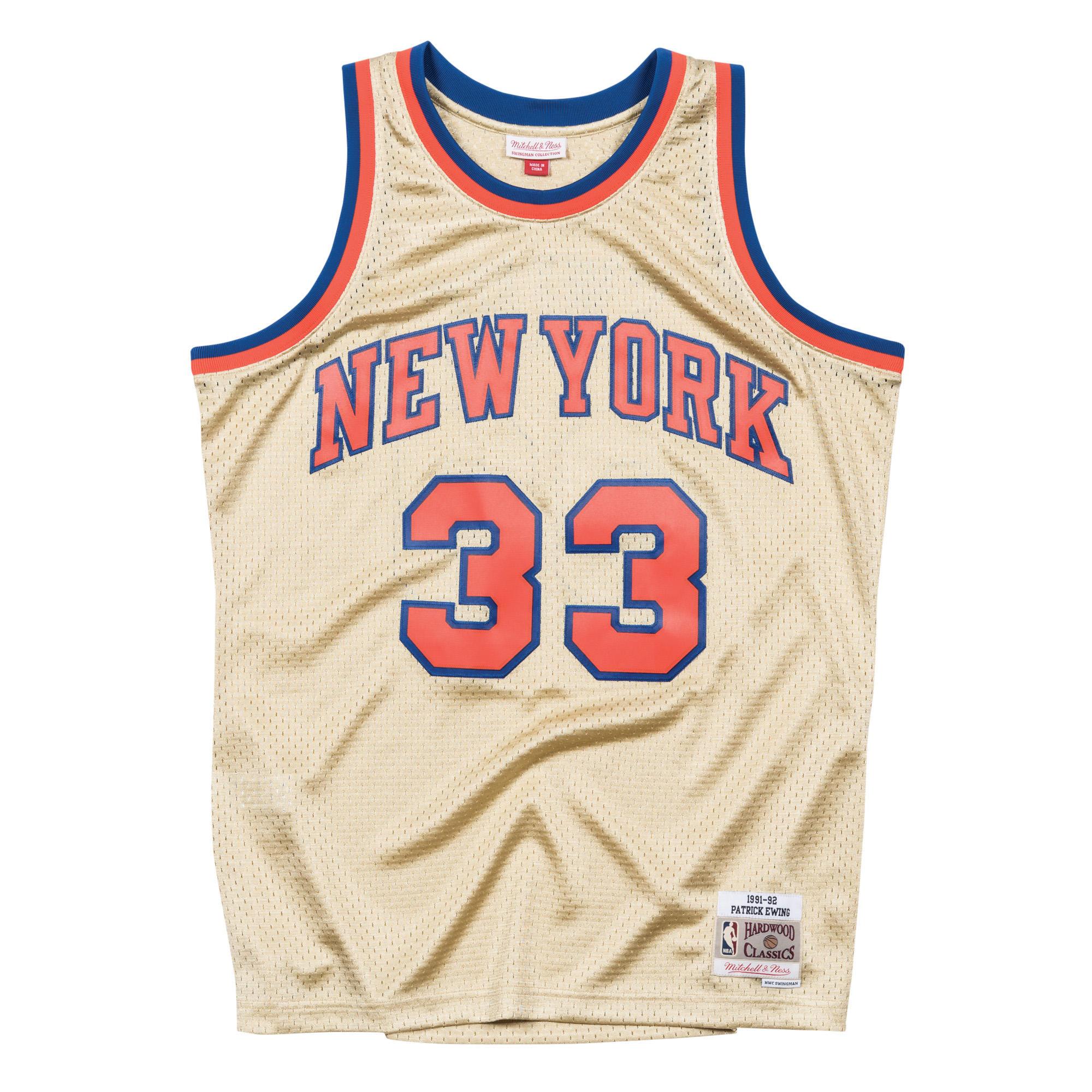 best service 4595e 90cc9 Mitchell & Ness Nostalgia Co. | Patrick Ewing 1991-92 Gold ...