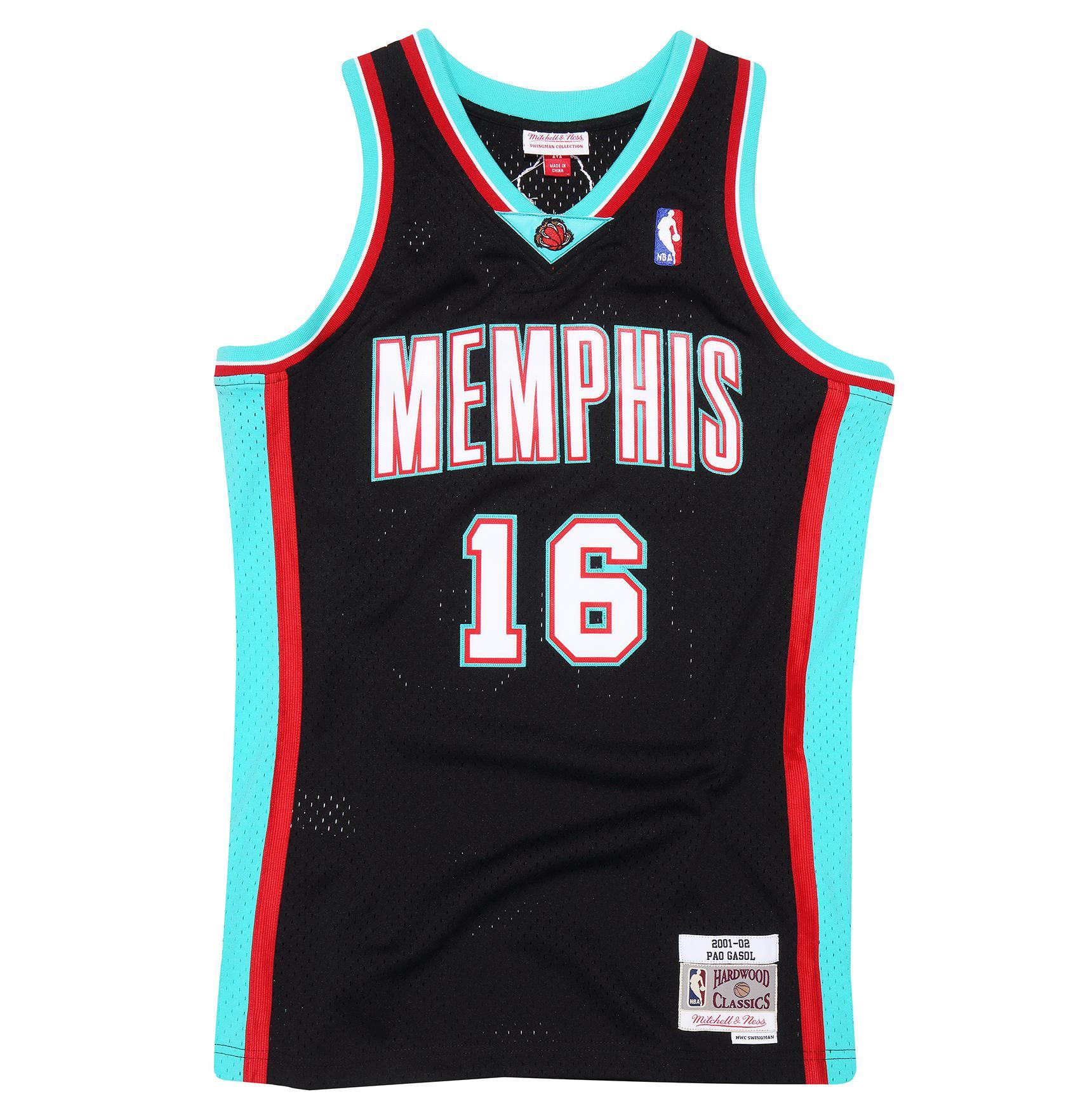 detailing dbb39 77b0f Mitchell & Ness | Pau Gasol 2001-02 Memphis Grizzlies Road ...