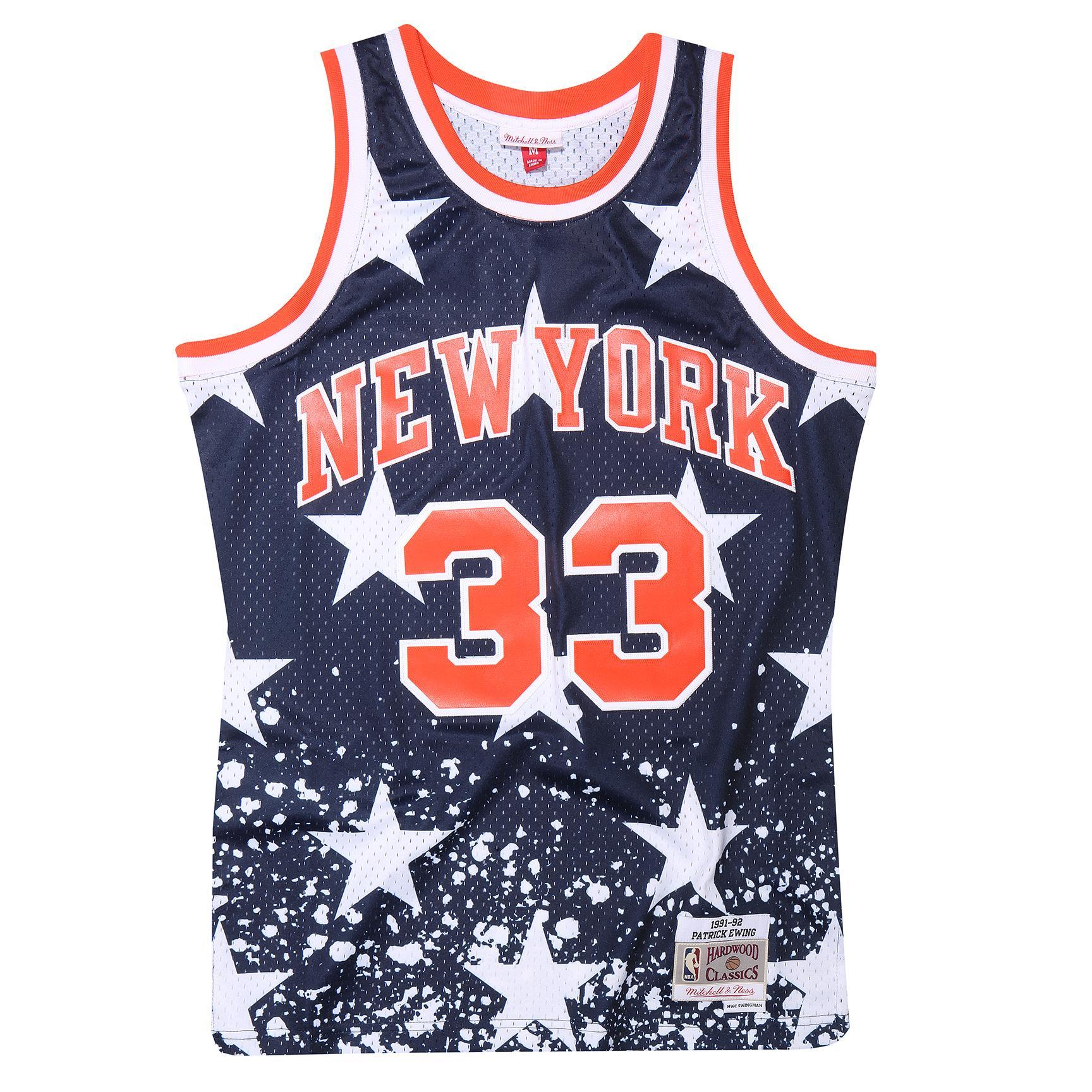 fd8d072e5 Mitchell    Ness Patrick Ewing  33 New York Knicks 1991-92 Swingman NBA  Jersey Blue