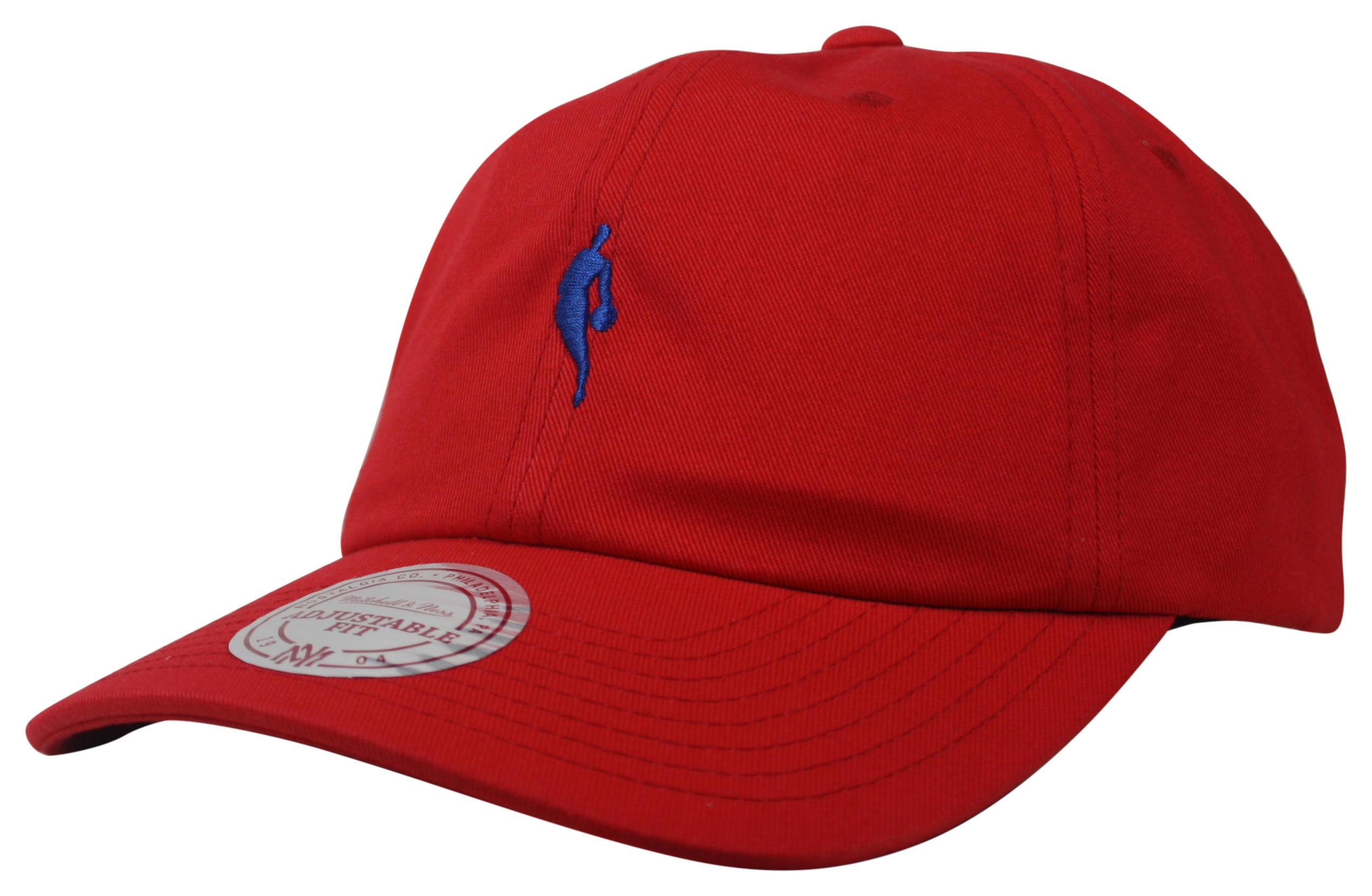 7ecc6e8f Mitchell & Ness | NBA Logoman Red Little Dribbler Dad Hat Snapback
