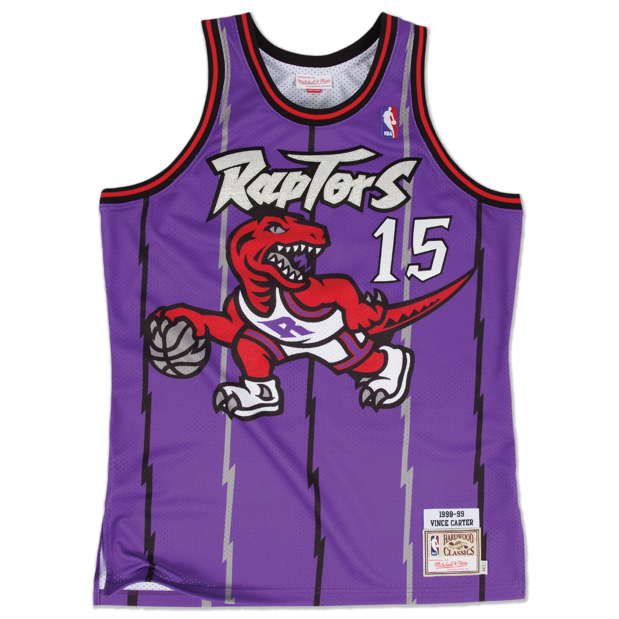 new products 8ce6a 8734a Mitchell & Ness | Vince Carter 1998-99 Road Toronto Raptors ...