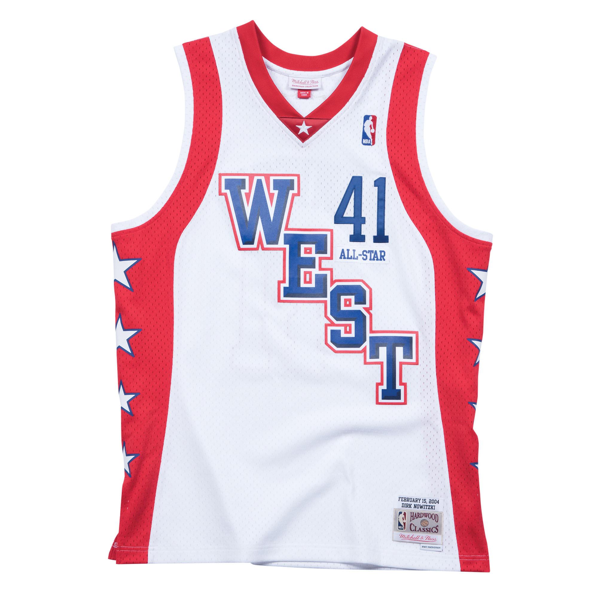 d61491d6c ... dirk nowitzki 2004 west swingman jersey nba all star