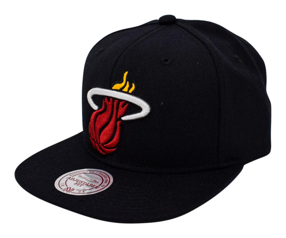 243eacf8d Mitchell & Ness Nostalgia Co. | Miami Heat Wool Solid Snapback - Black