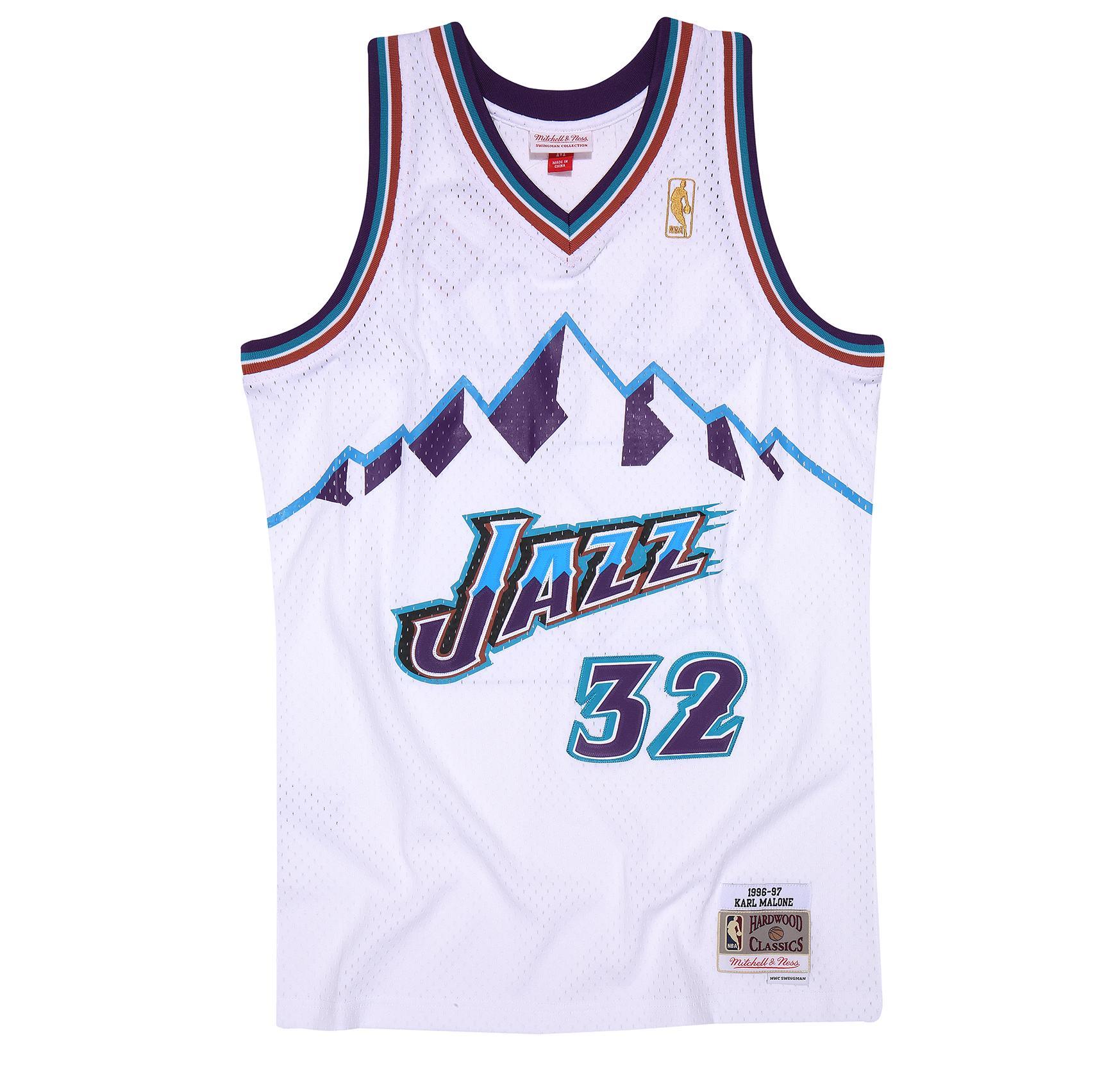 773239ea8c2 Karl Malone 1996-97 Home Swingman Jersey Utah Jazz