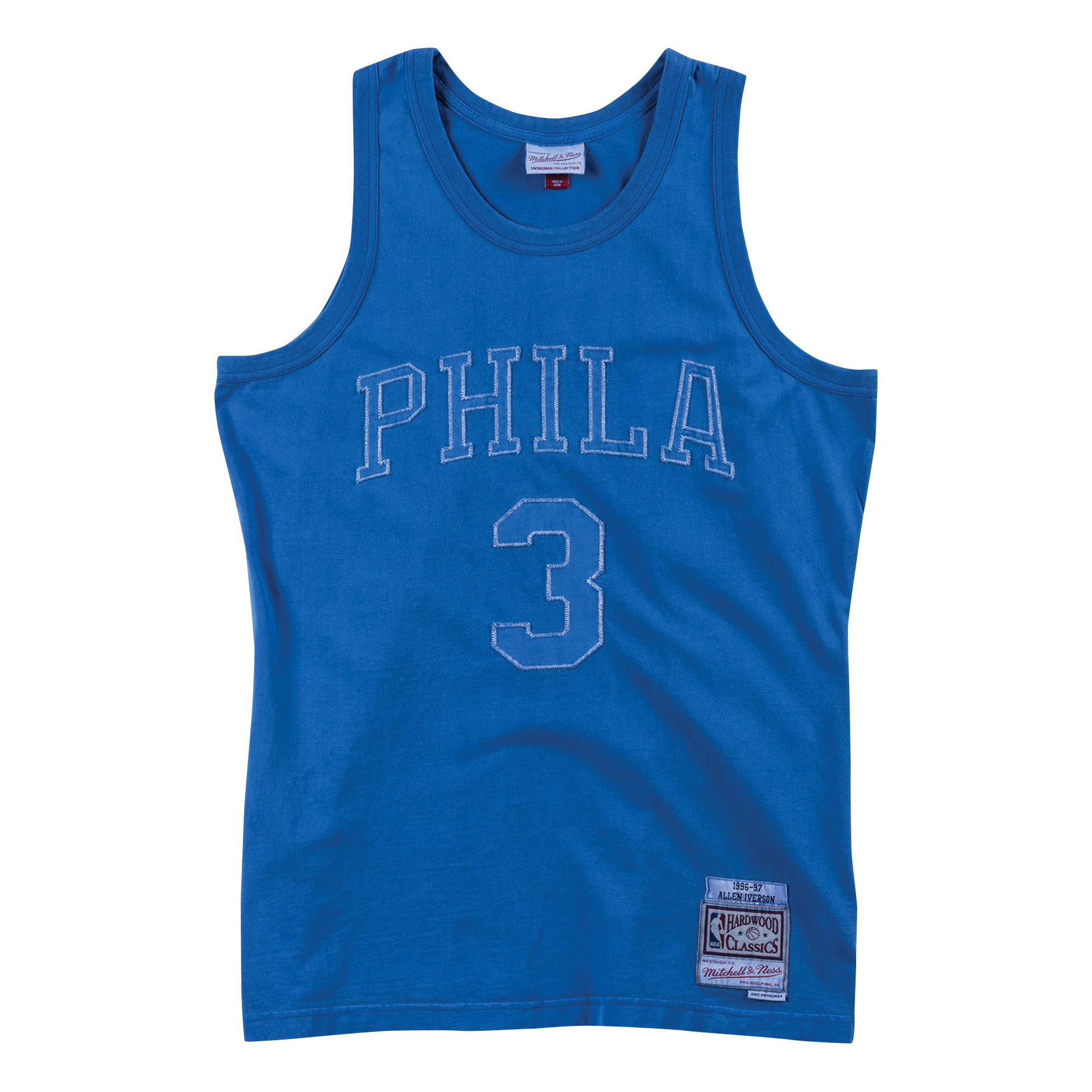 classic fit 566f1 bb943 Mitchell & Ness | Washed Out Swingman Jersey Allen Iverson ...