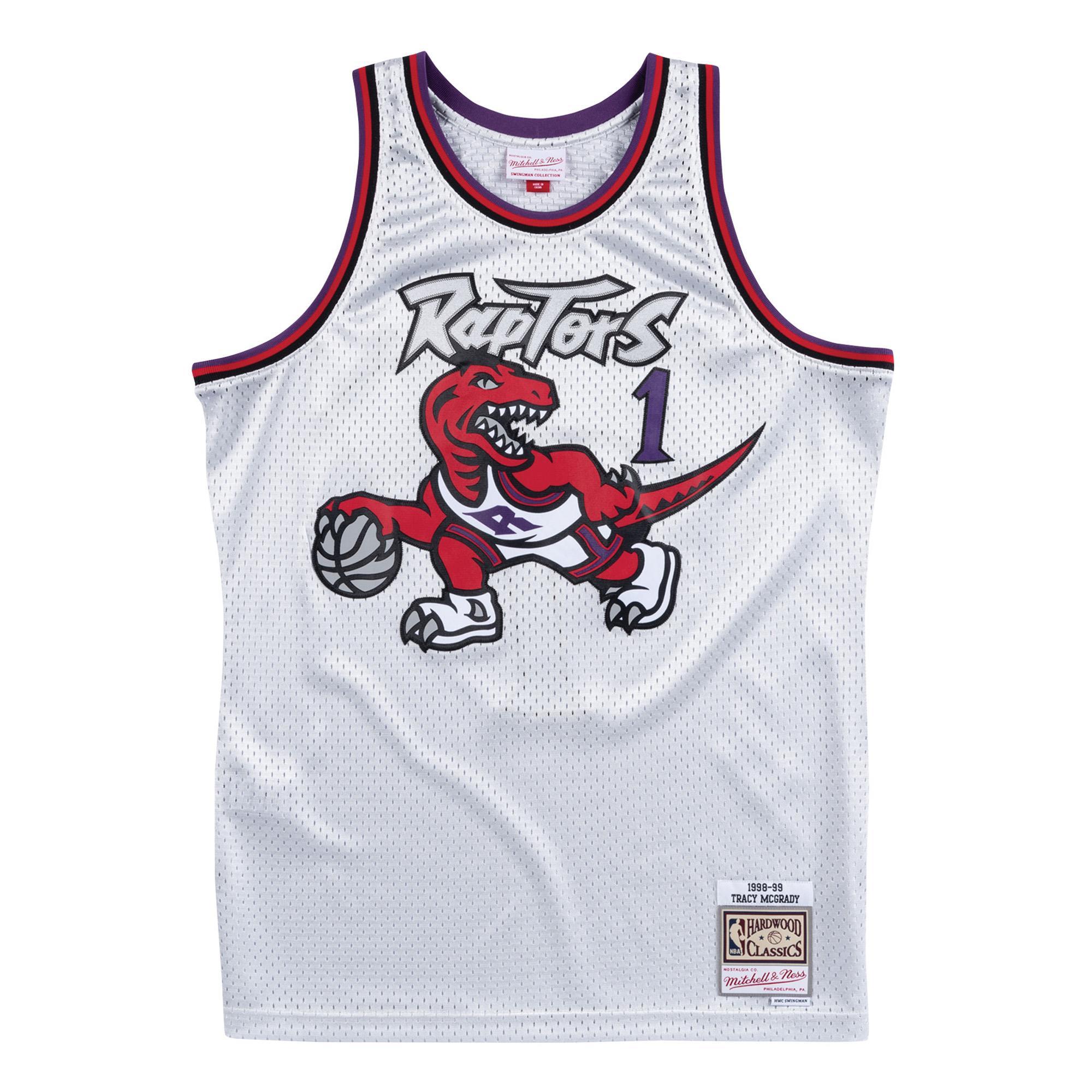 92981586629 Mitchell & Ness | Toronto Raptors Platinum Swingman Jersey Tracy Mcgrady