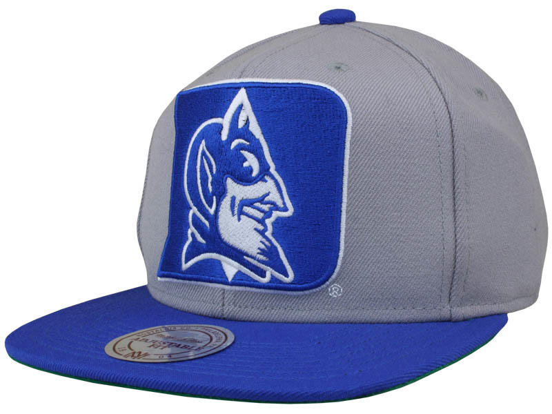 78d9a1ecdff Mitchell and Ness Duke Blue Devils XL Logo 2 Tone Snapback