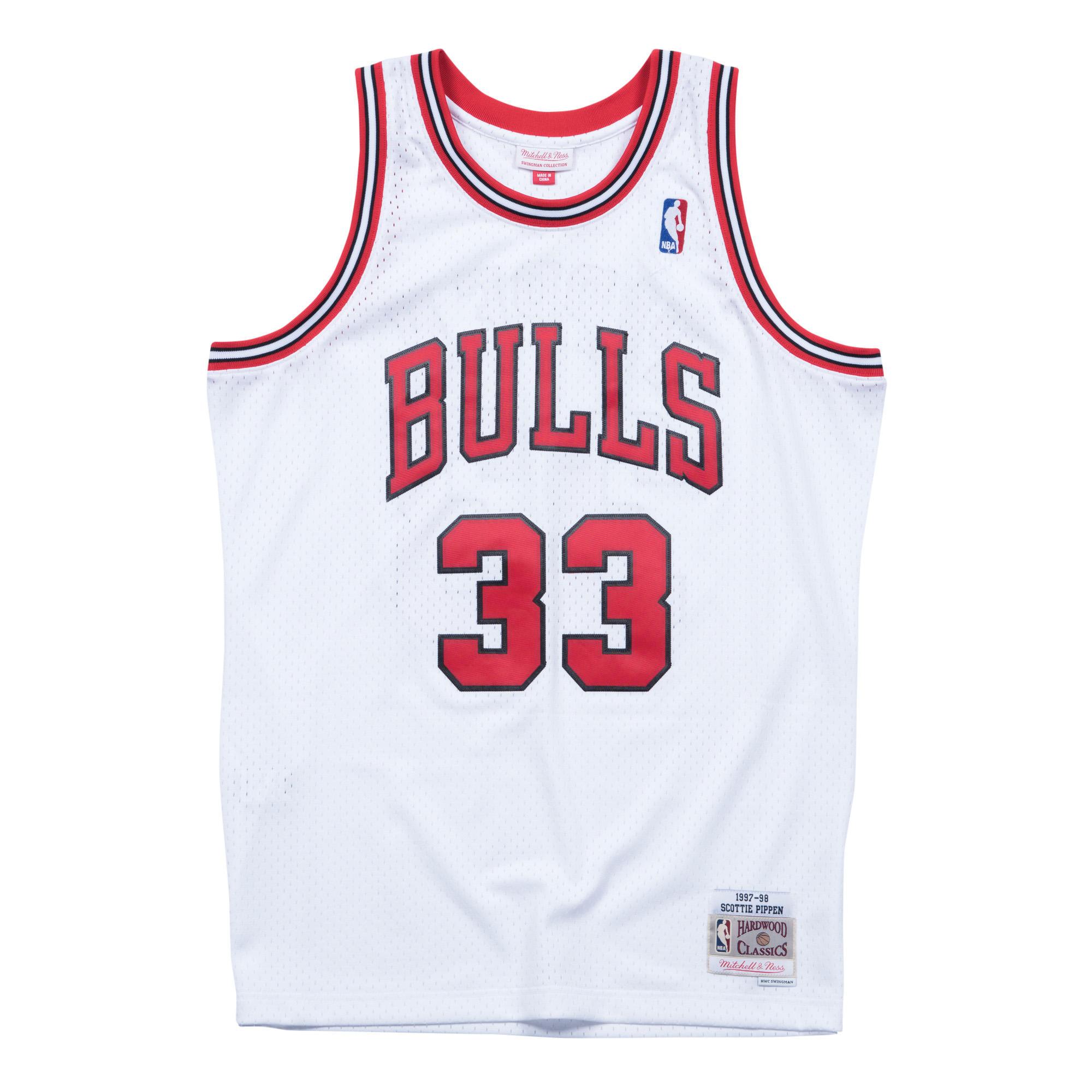 b63da56b174 Scottie Pippen 1997-98 Home Swingman Jersey Chicago Bulls