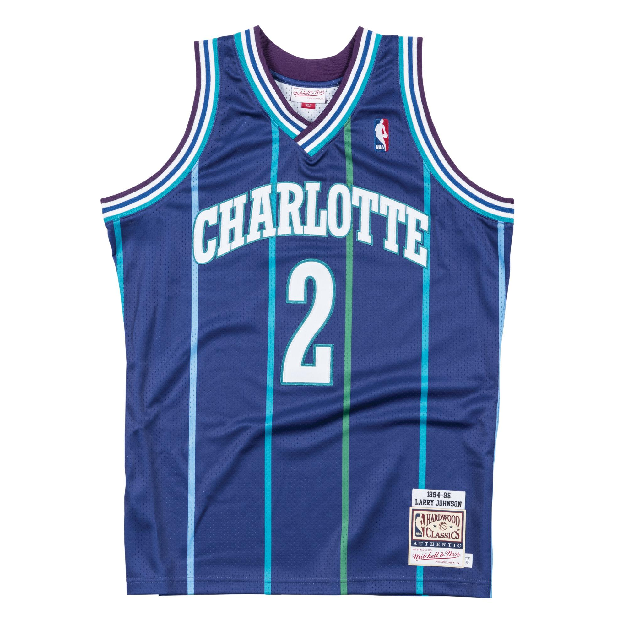 0b0dc62d960 Mitchell & Ness | Larry Johnson 1994-95 Alternate Charlotte Hornets  Authentic Jersey
