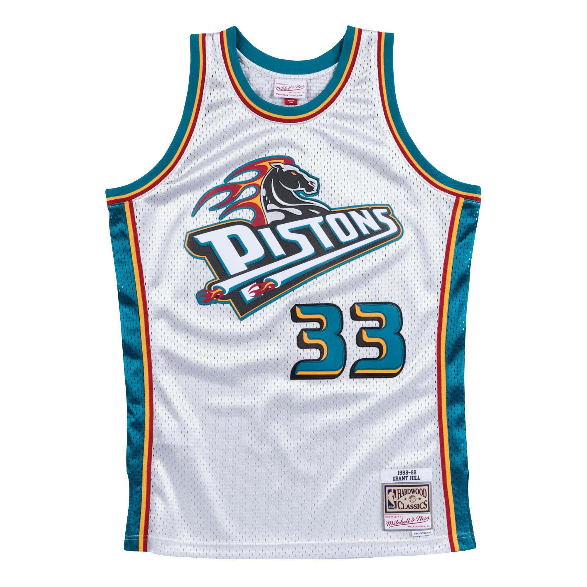 huge discount 4660f 46f21 Mitchell & Ness   Detroit Pistons Platinum Swingman Jersey ...