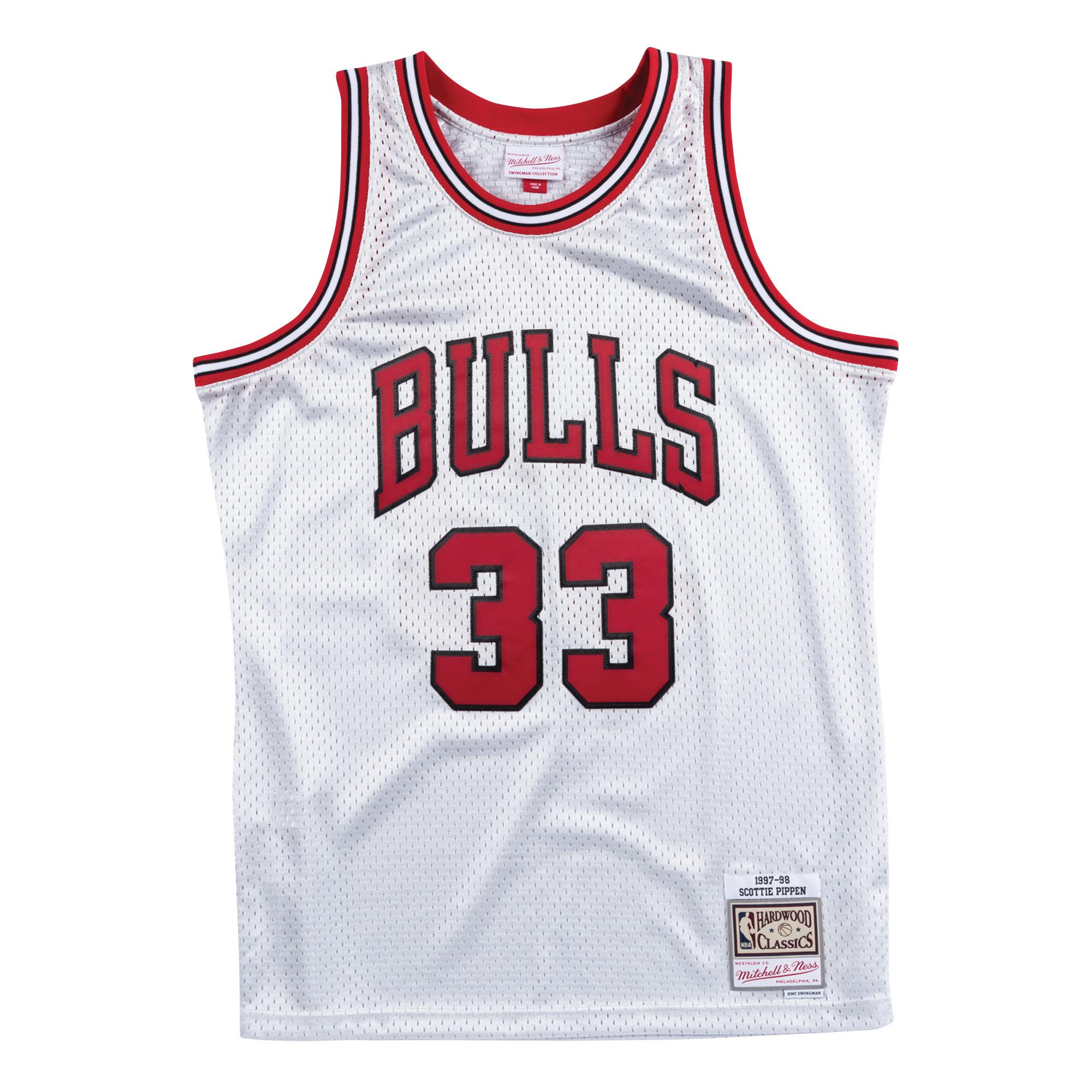 lowest price 7aa84 6567a Mitchell & Ness | Chicago Bulls Platinum Swingman Jersey ...