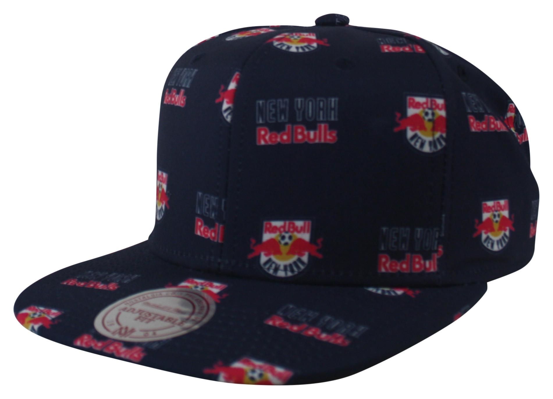 Mitchell and Ness Red Bulls Blue Mono Logo Snapback 425ebc8b70