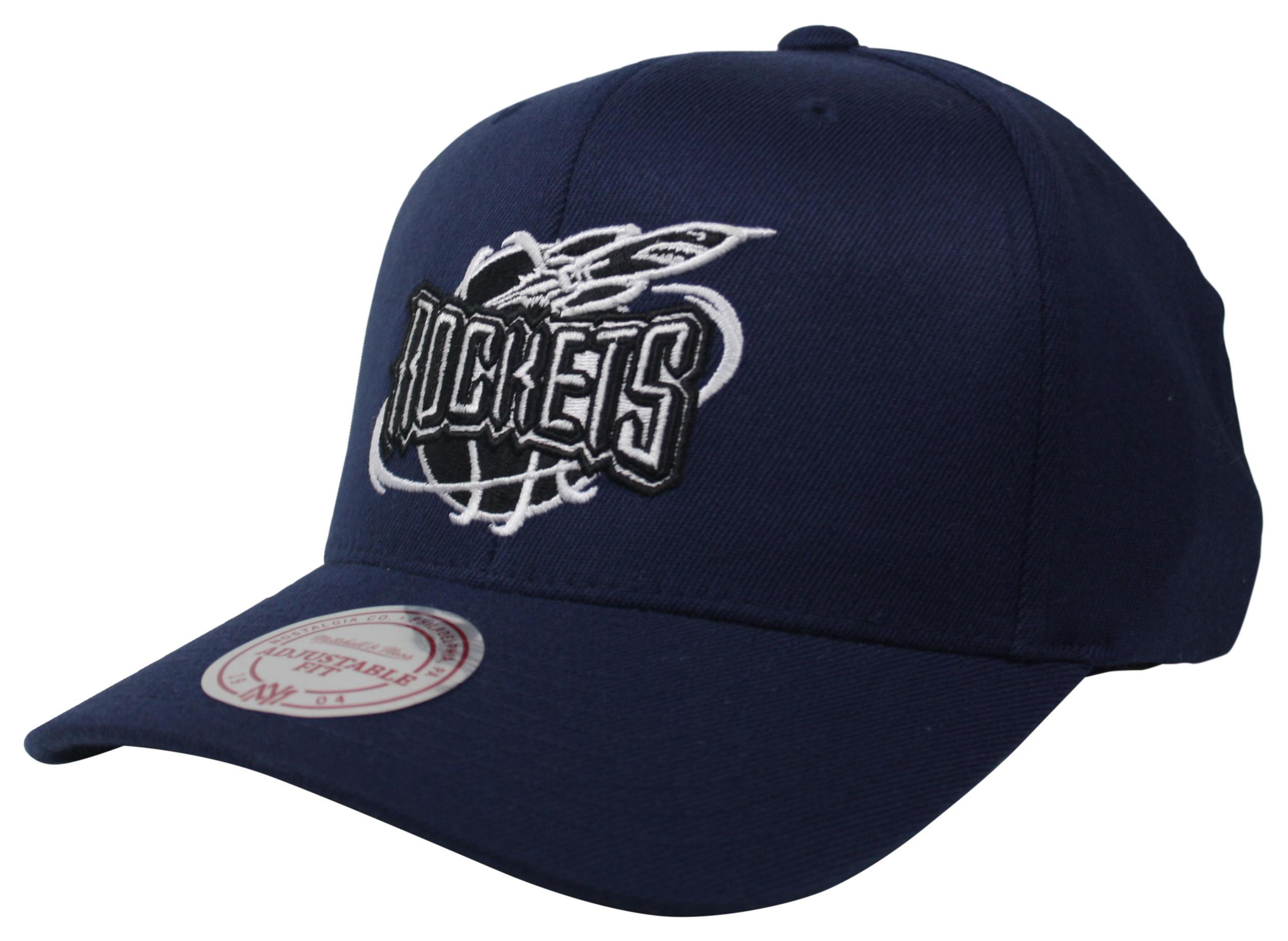 a9481917e2297 Black   White Logo 110 Snapback Houston Rockets