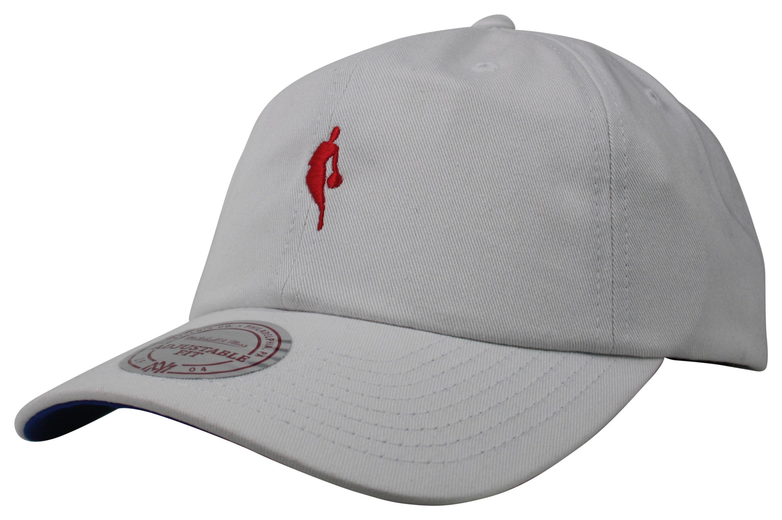 7a33a6b2 Mitchell & Ness | NBA Logoman White Little Dribbler Dad Hat Snapback
