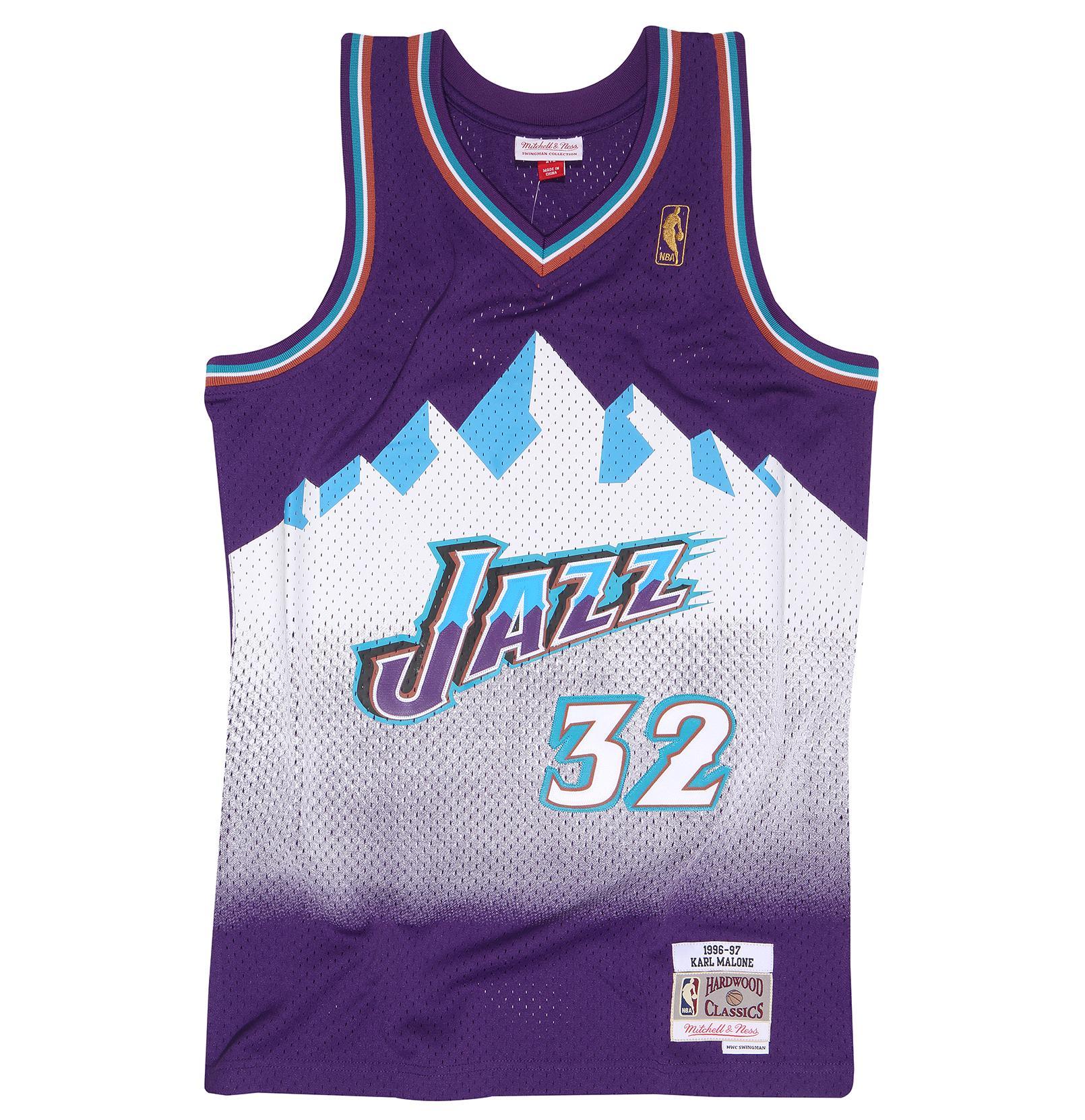 1d226f193 Karl Malone 1996-97 Road Swingman Jersey Utah Jazz
