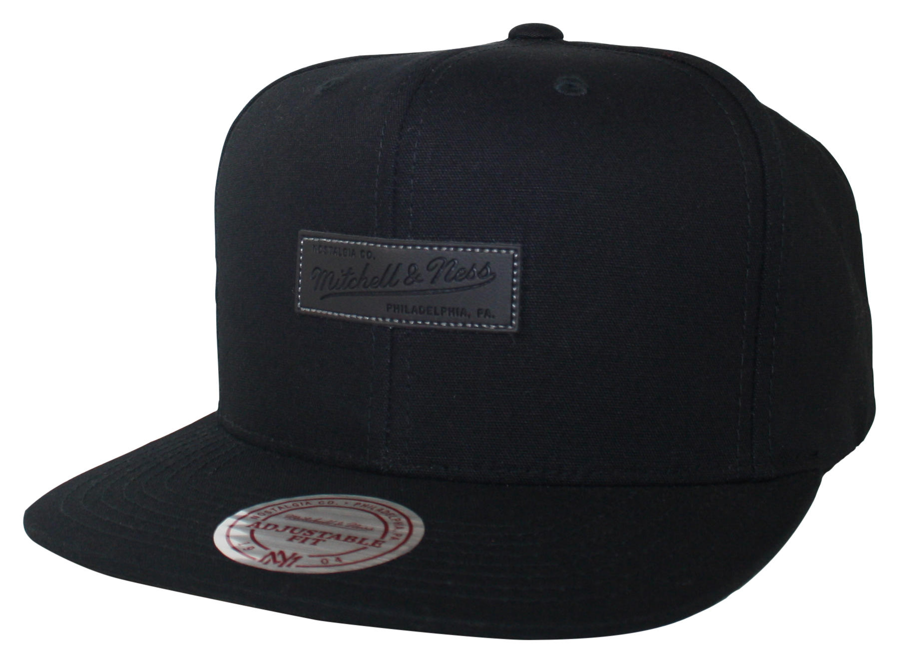 mitchell ness mitchell and ness black hot stamp snapback. Black Bedroom Furniture Sets. Home Design Ideas