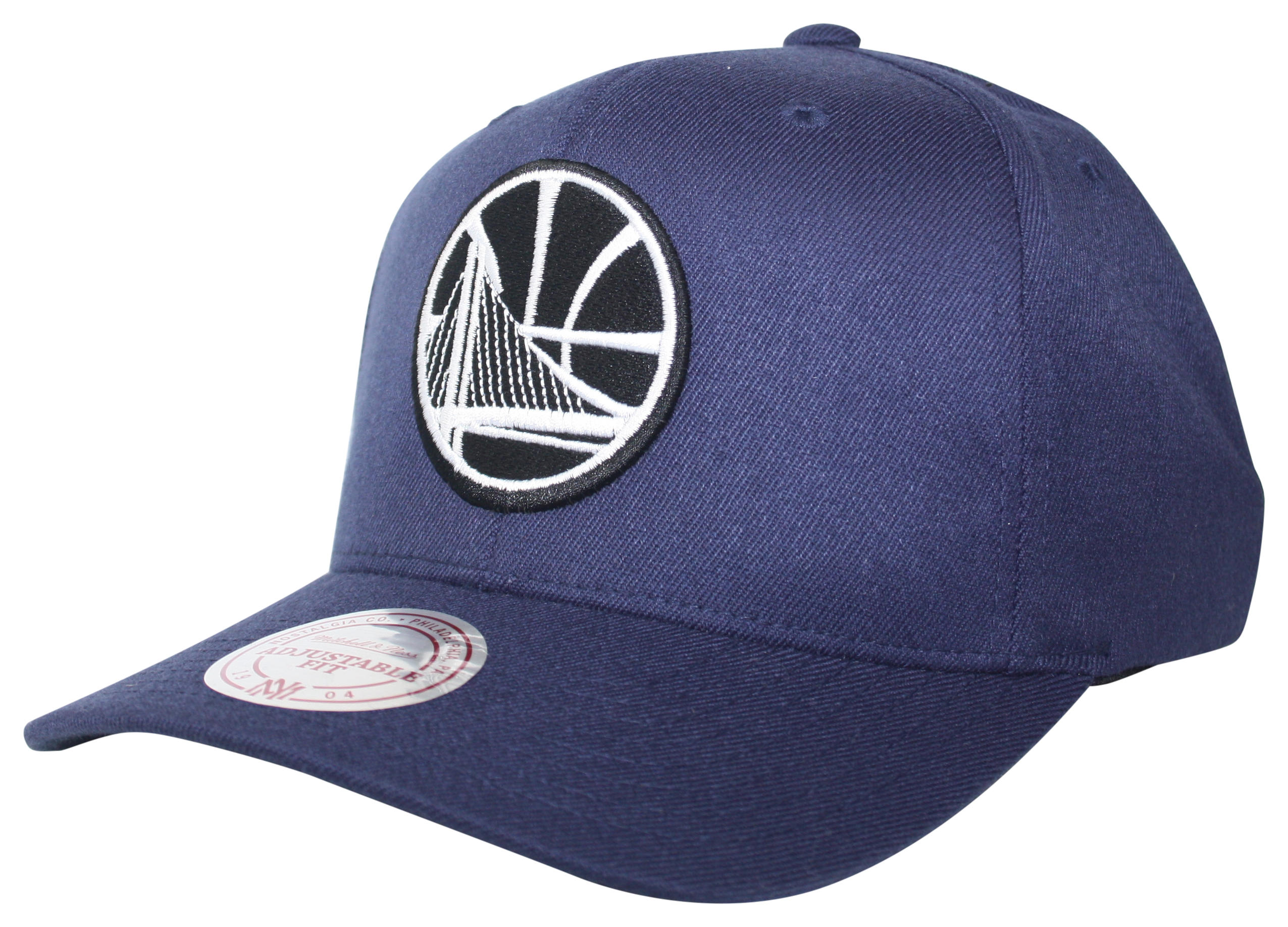 d2b8bb3e Mitchell & Ness | Golden State Warriors Blue Black & White Logo 110 ...