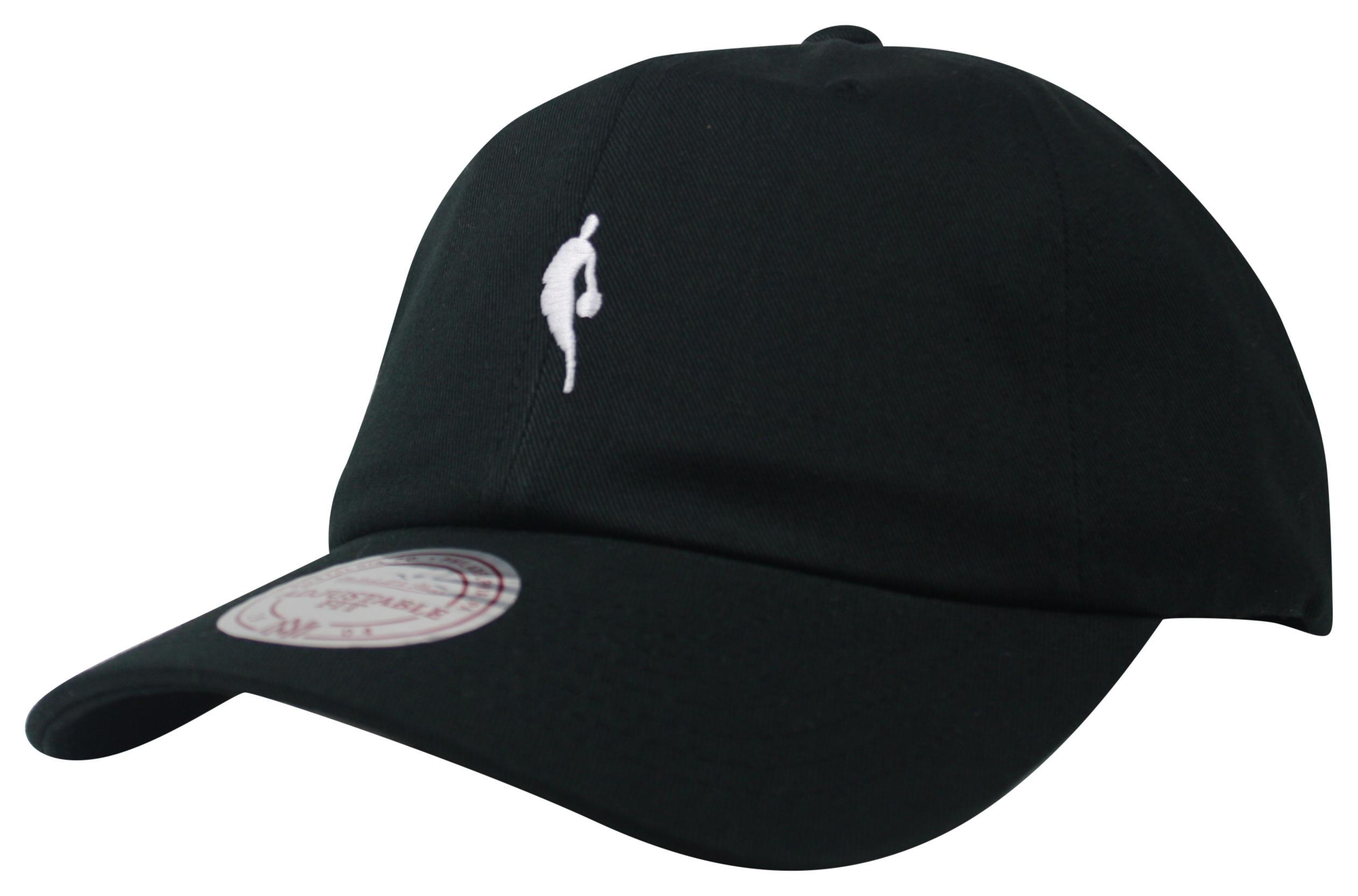 71a5ec51 Mitchell & Ness | NBA Logoman Black Little Dribbler Dad Hat Snapback