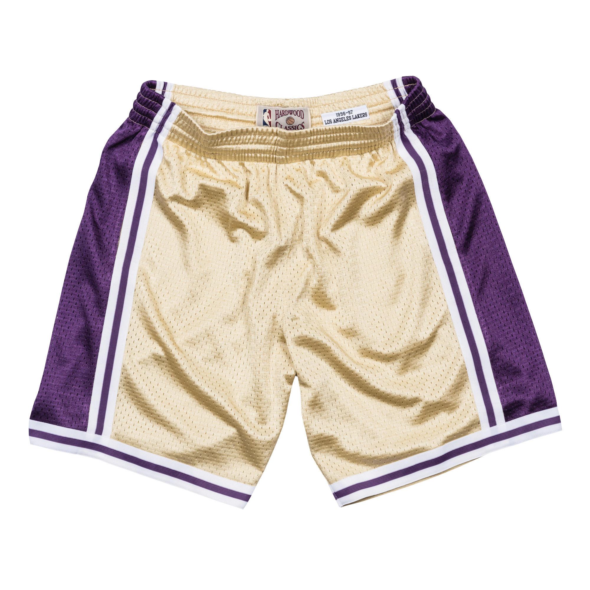 8f3f6bb4 Mitchell & Ness | LA Lakers Gold Swingman Shorts