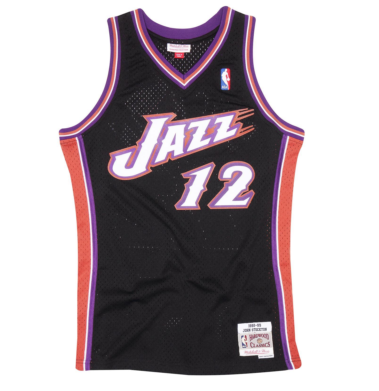 timeless design 51f83 fd88b Mitchell & Ness | John Stockton 1998-99 Utah Jazz Swingman ...