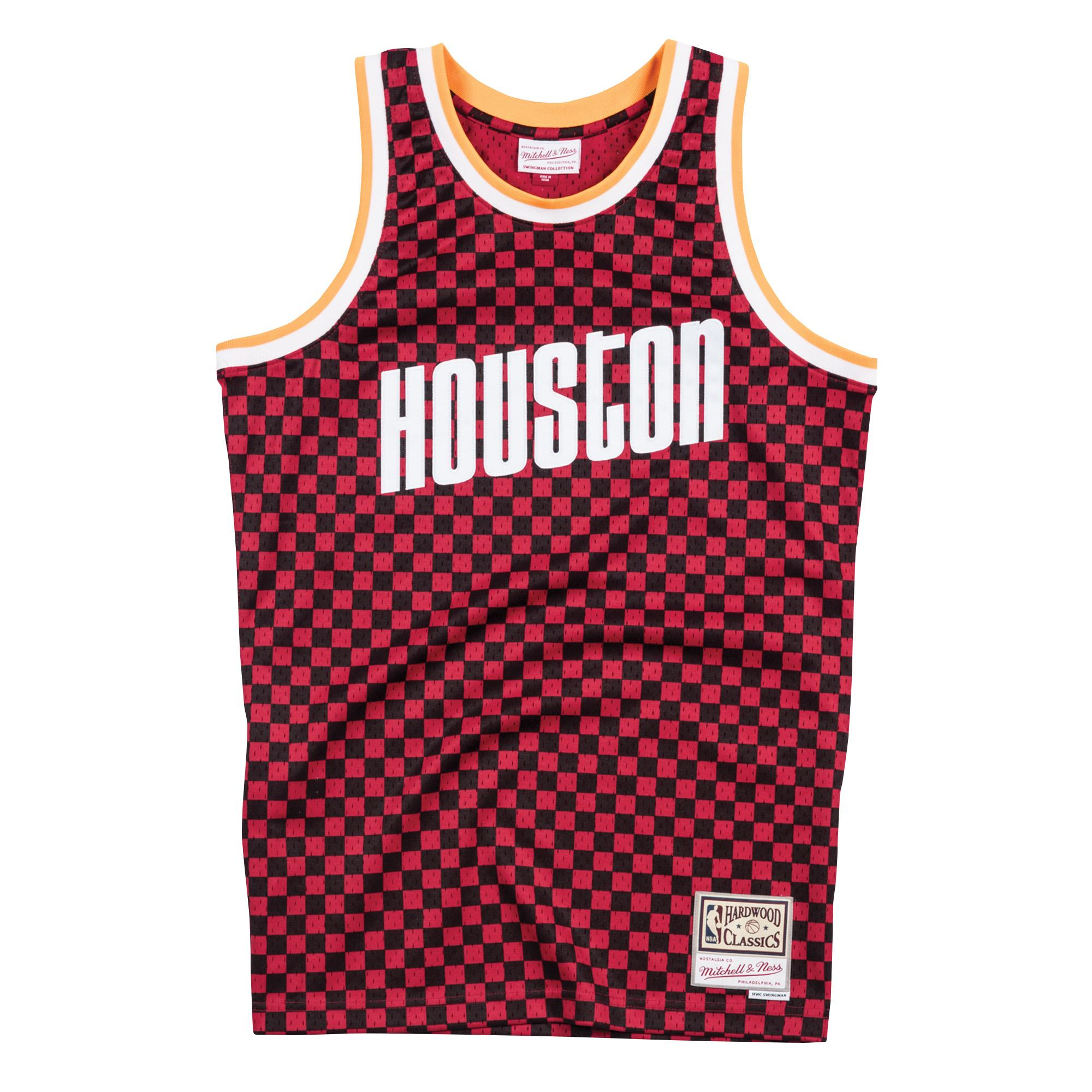 separation shoes f4aae a3a27 Mitchell & Ness | Houston Rockets Black & Red Checkered ...