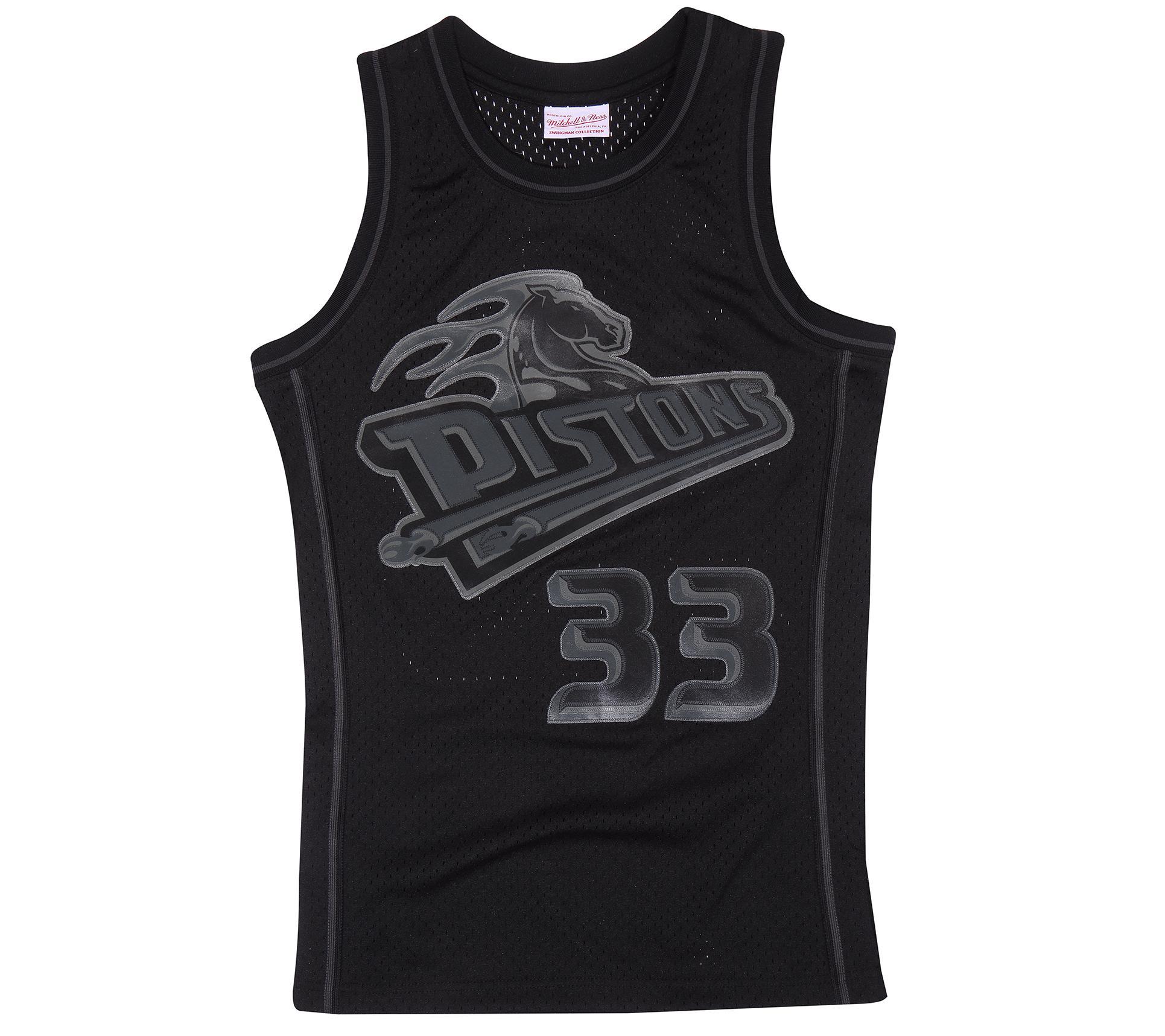 c1d6bcea2bdd Back to Black Grant Hill Swingman Jersey Detroit Pistons