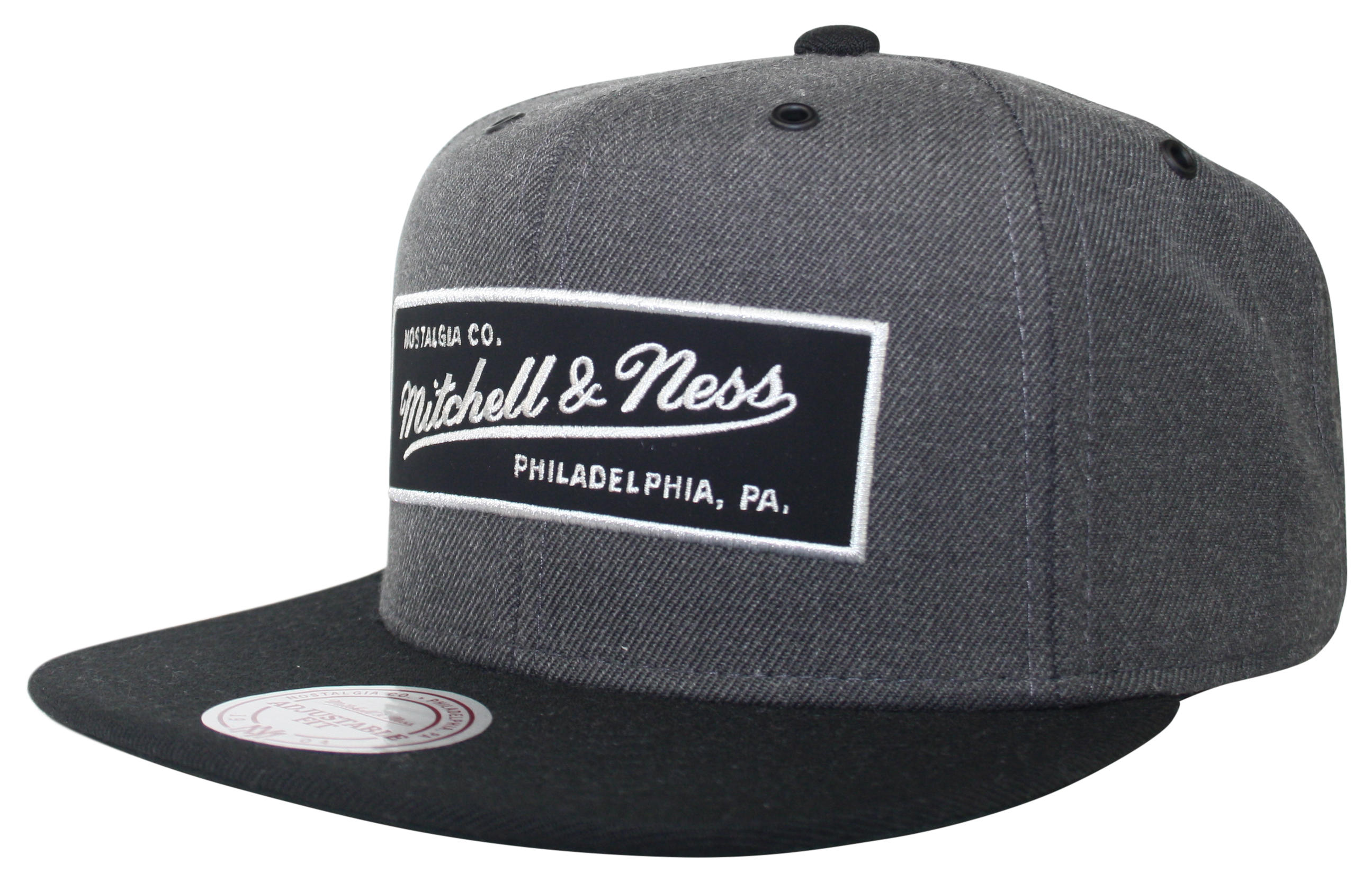 mitchell ness mitchell and ness grey g3 logo snapback. Black Bedroom Furniture Sets. Home Design Ideas