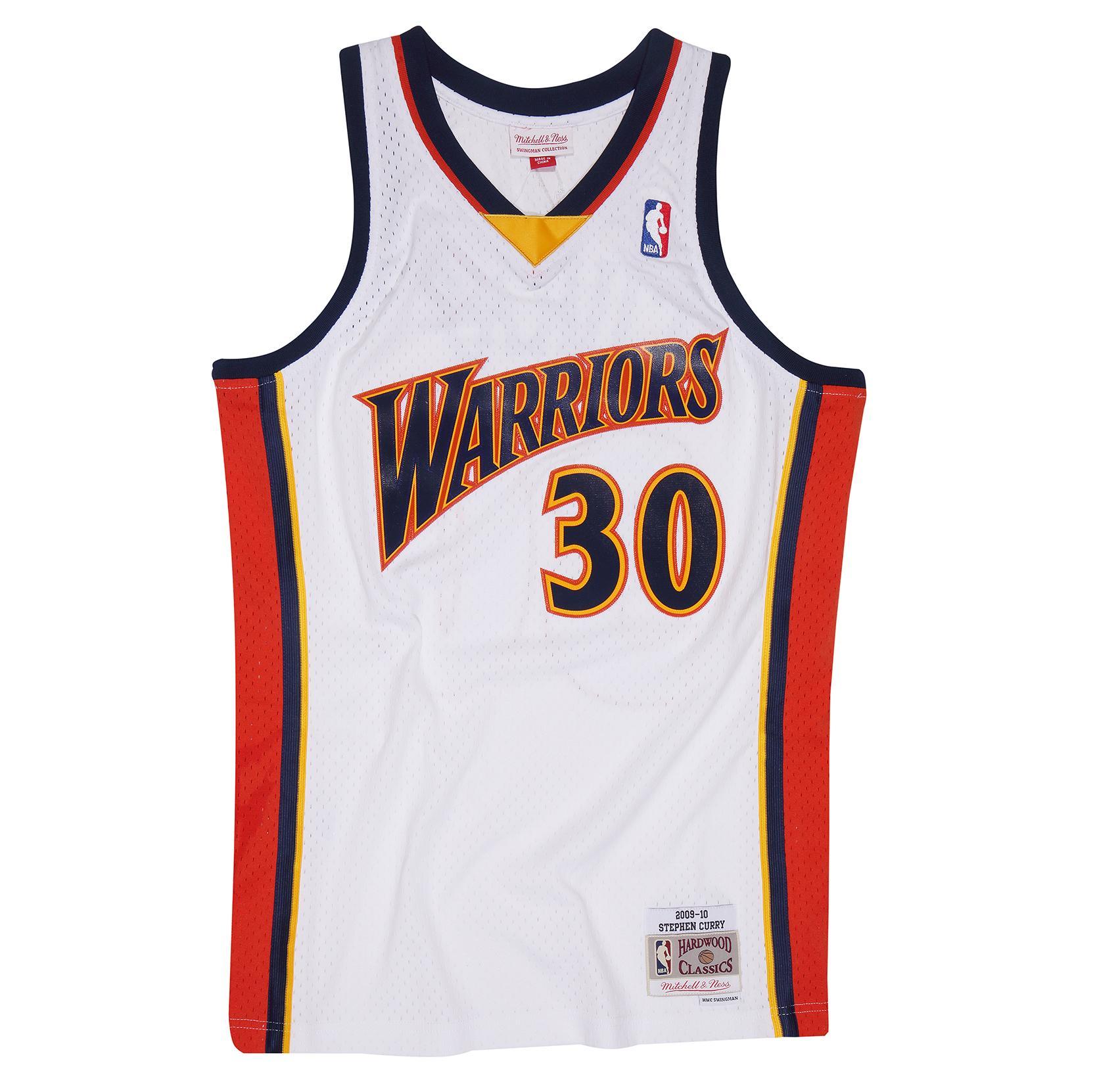 a84e72fd632 Stephen Curry 2009-10 Home Swingman Jersey Golden State Warriors