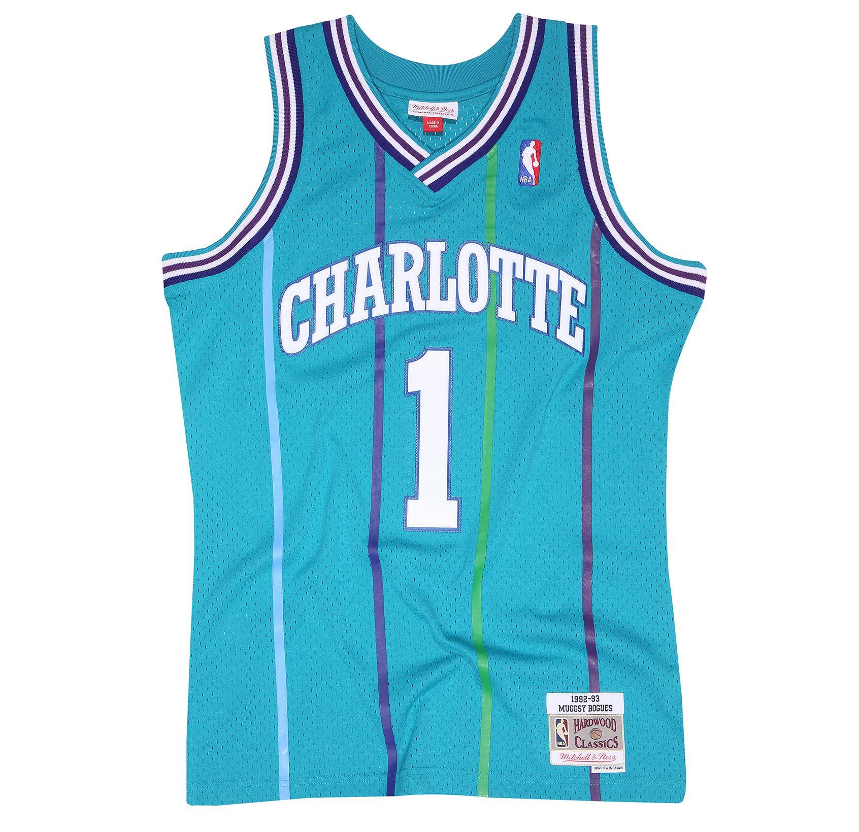 4a9a3a2c5 Muggsy Bogues 1992-93 Swingman Jersey Charlotte Hornets