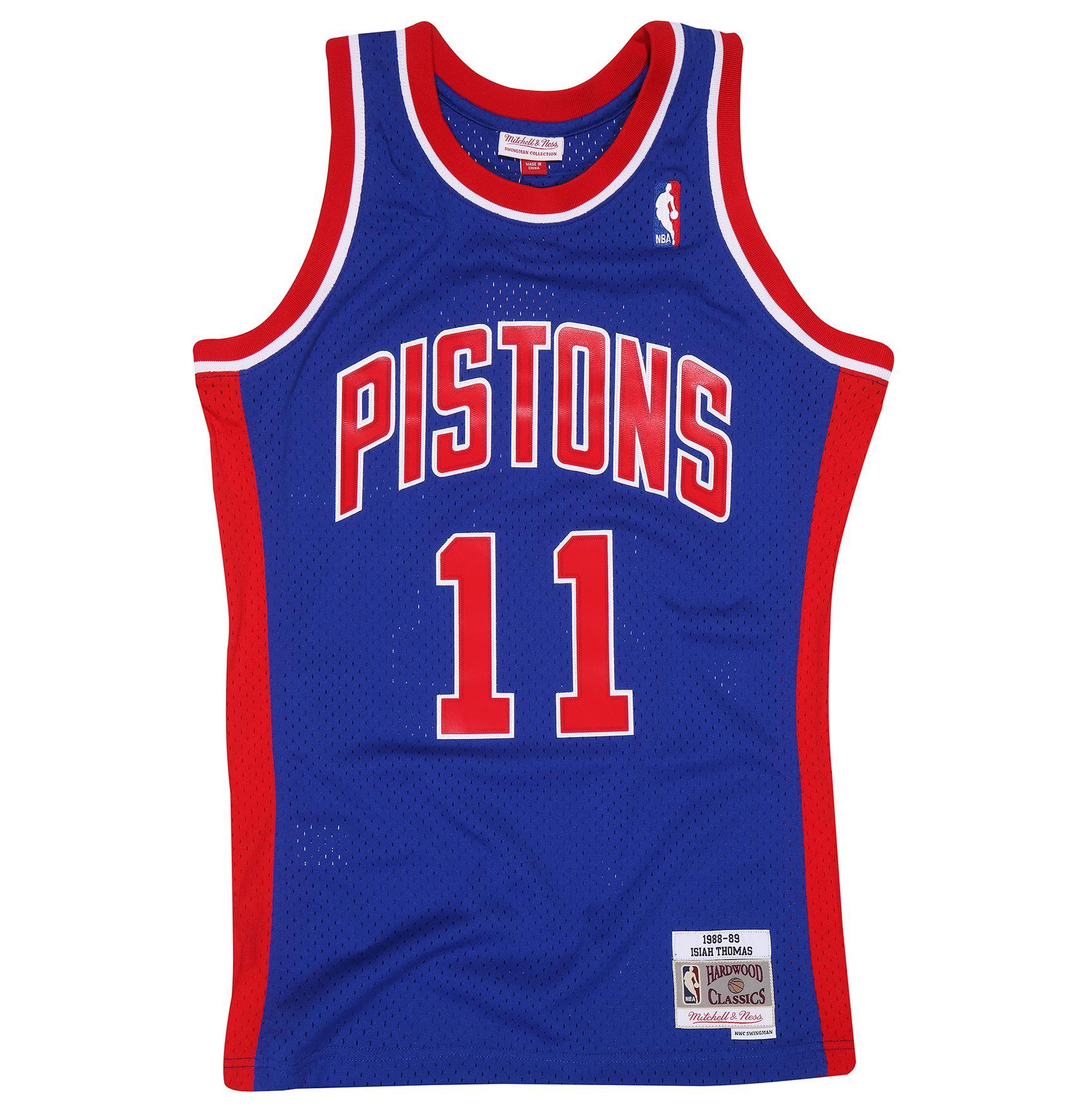 bf5fe6739b9c Isiah Thomas 1988-89 Swingman Jersey Detroit Pistons