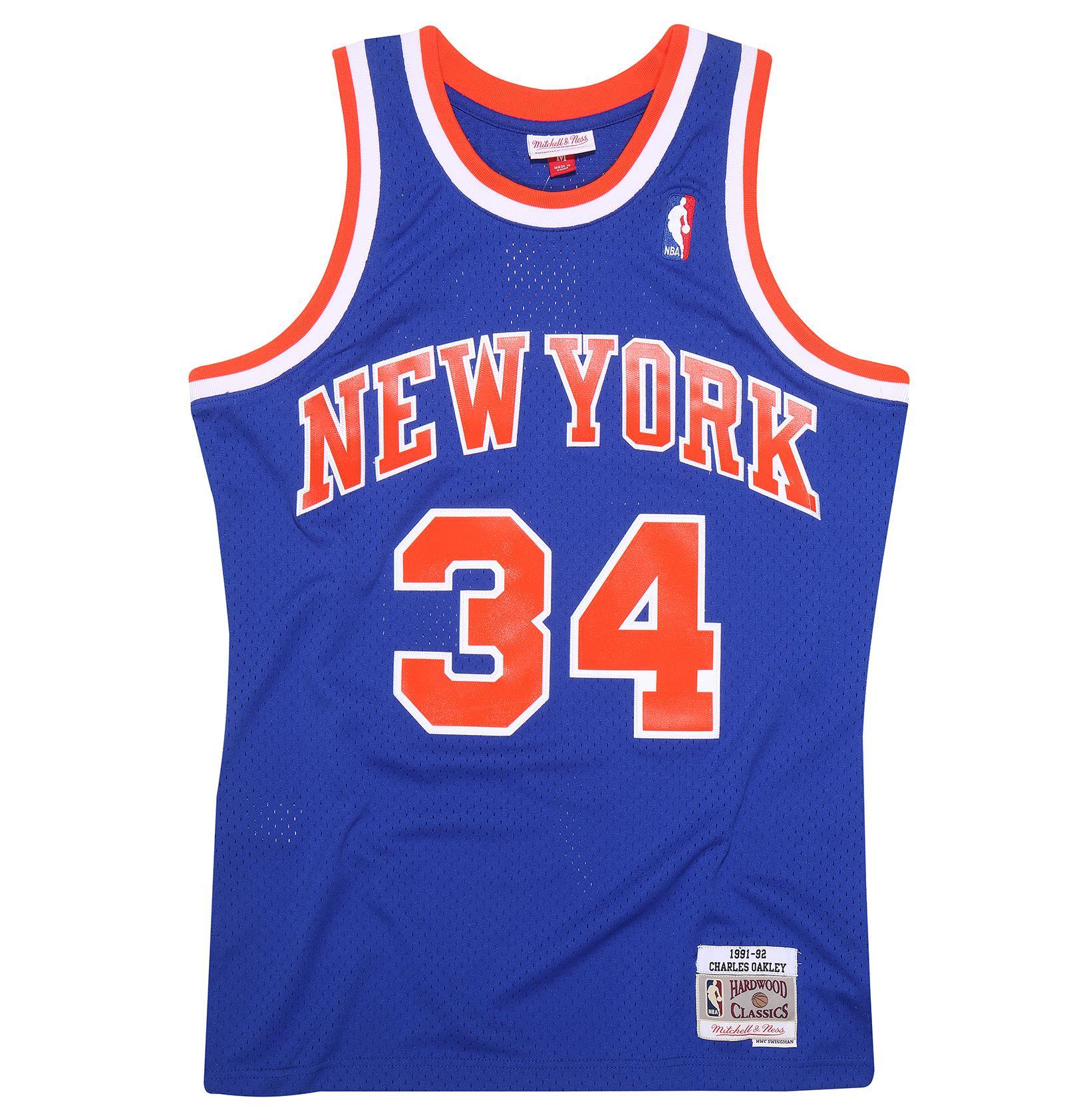 7c4091736f8 Charles Oakley 1991-92 Road Swingman Jersey New York Knicks