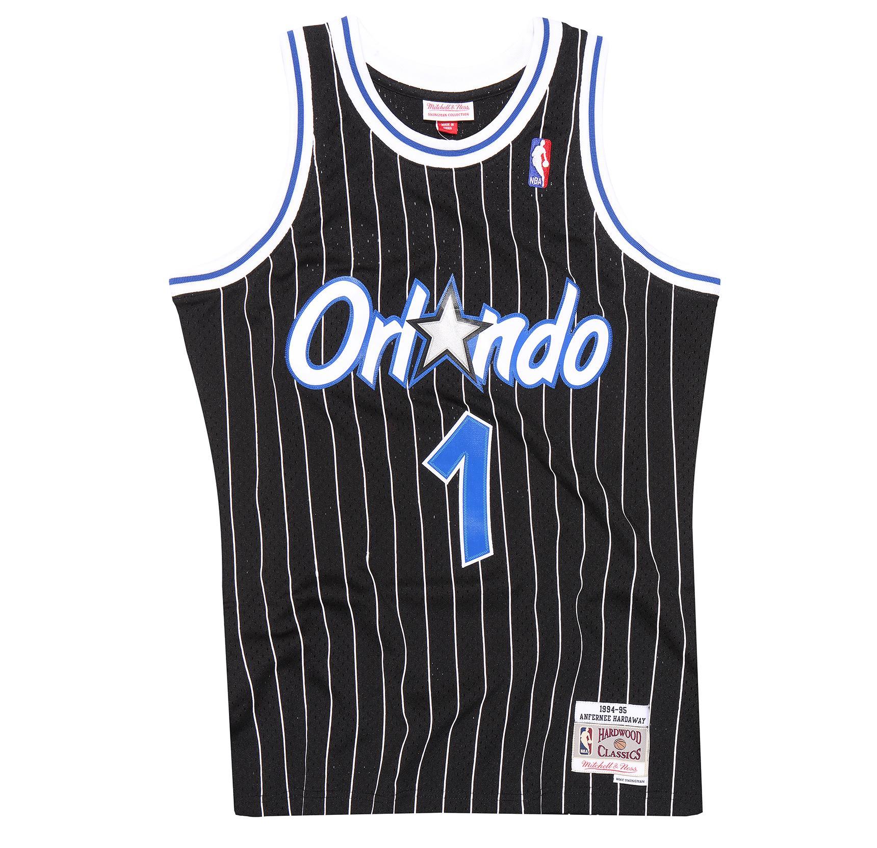 fe190696 Mitchell & Ness | Orlando Magic Black Anfernee Hardaway 1994-95 Swingman  Jersey