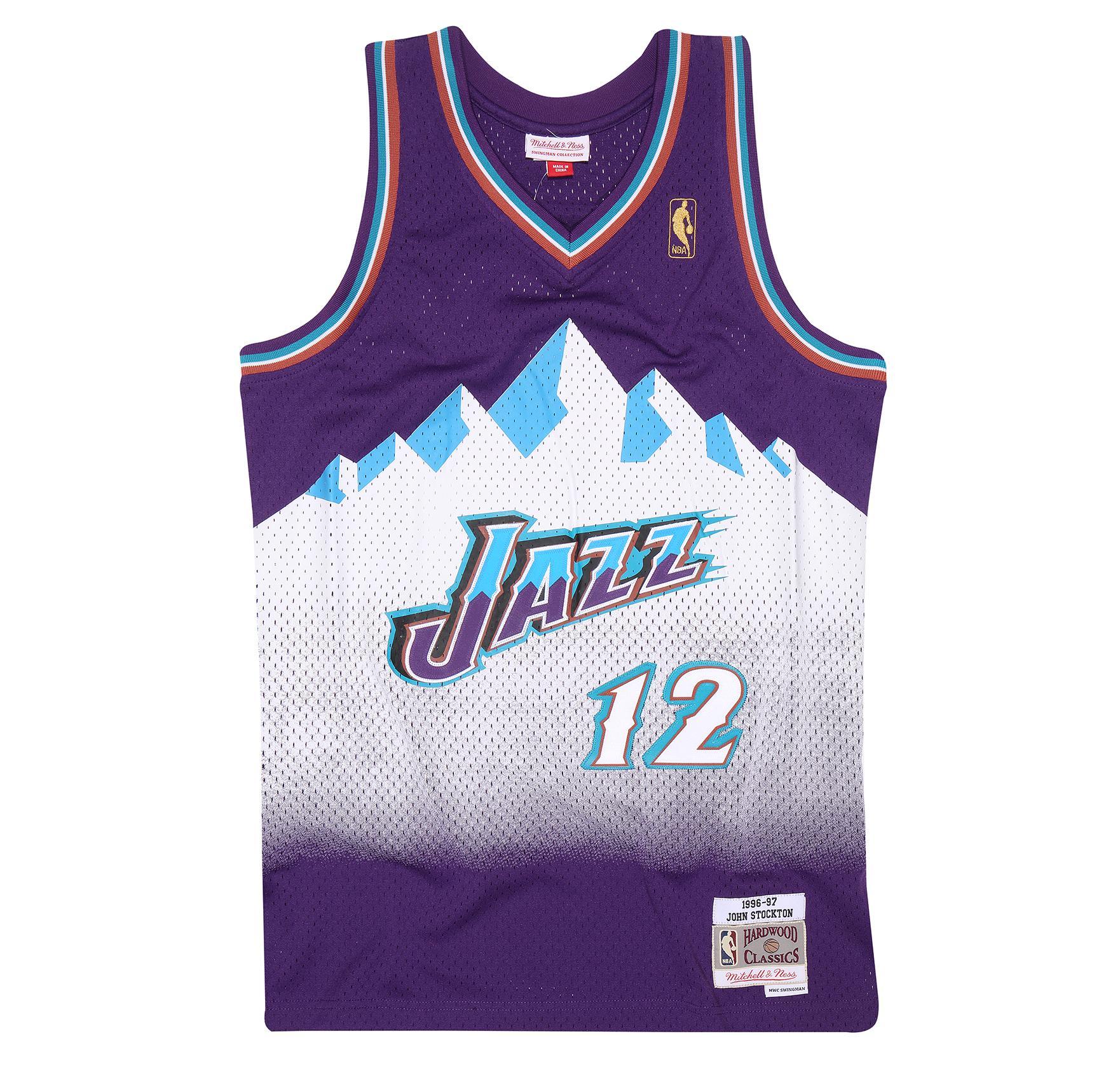 John Stockton 1996-97 Swingman Jersey Utah Jazz 5bec22552