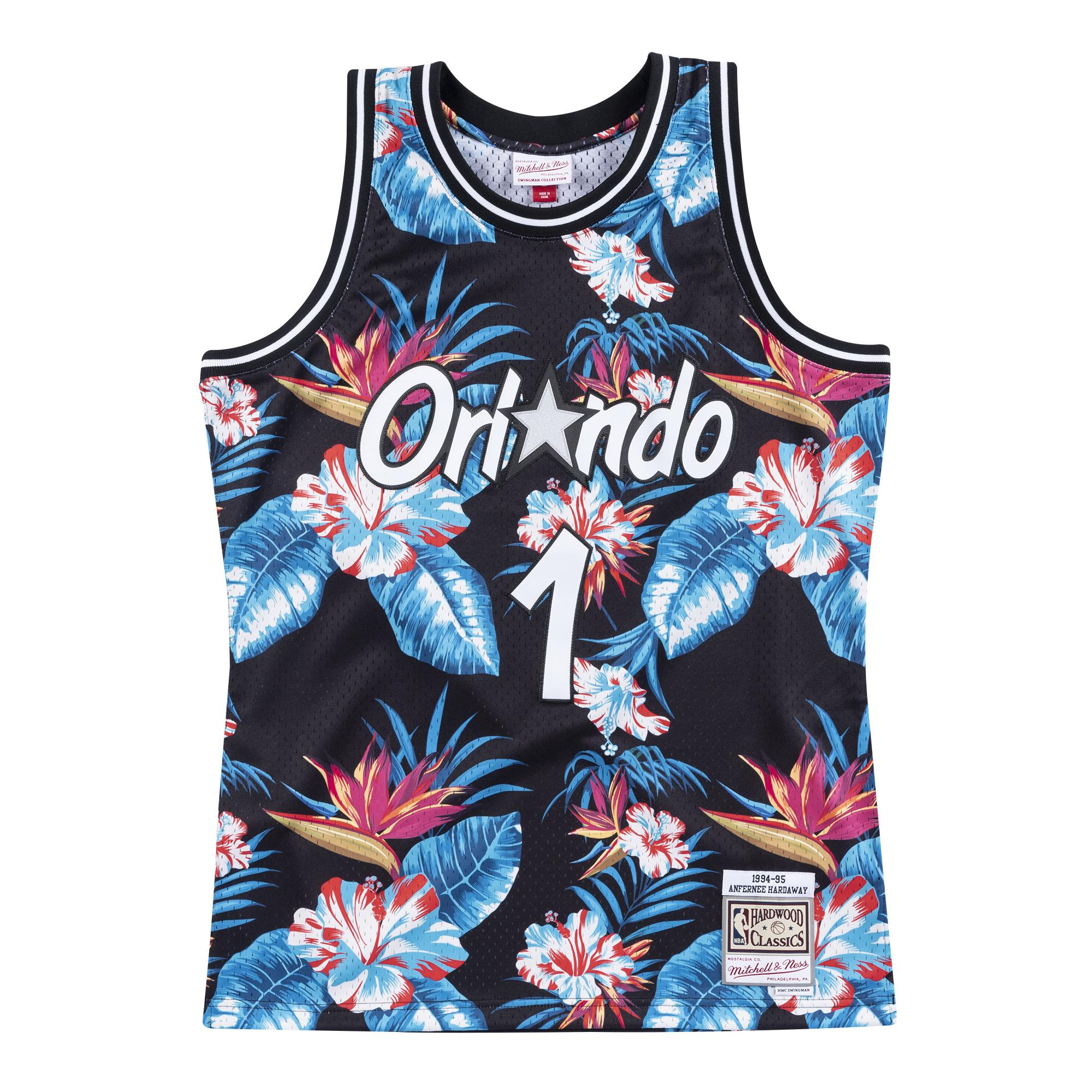 save off 1b868 45f10 Mitchell & Ness | Orlando Magic Floral Black Swingman Jersey ...
