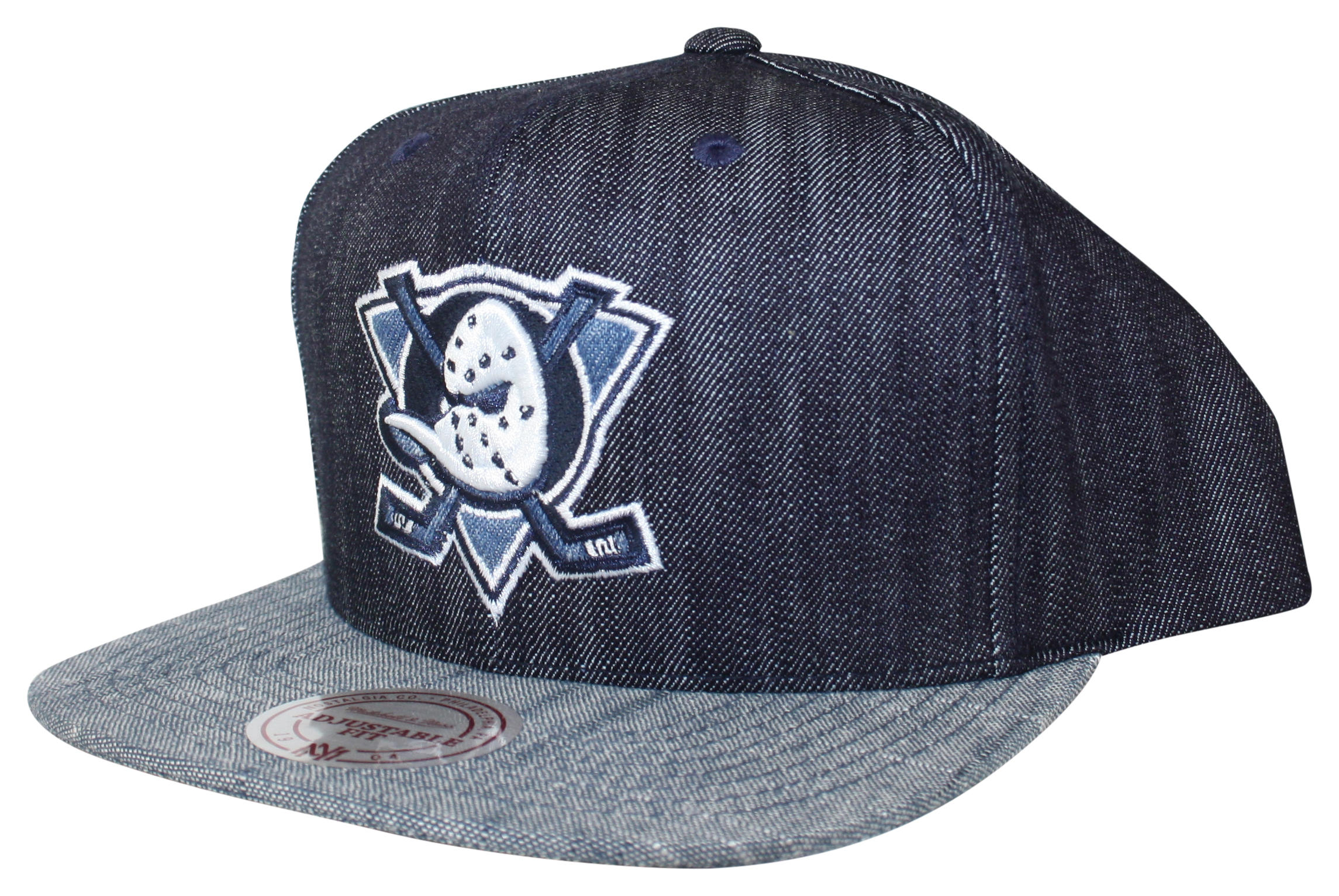 acf96b0cc8539 Blue Linen Snapback Mighty Ducks of Anaheim